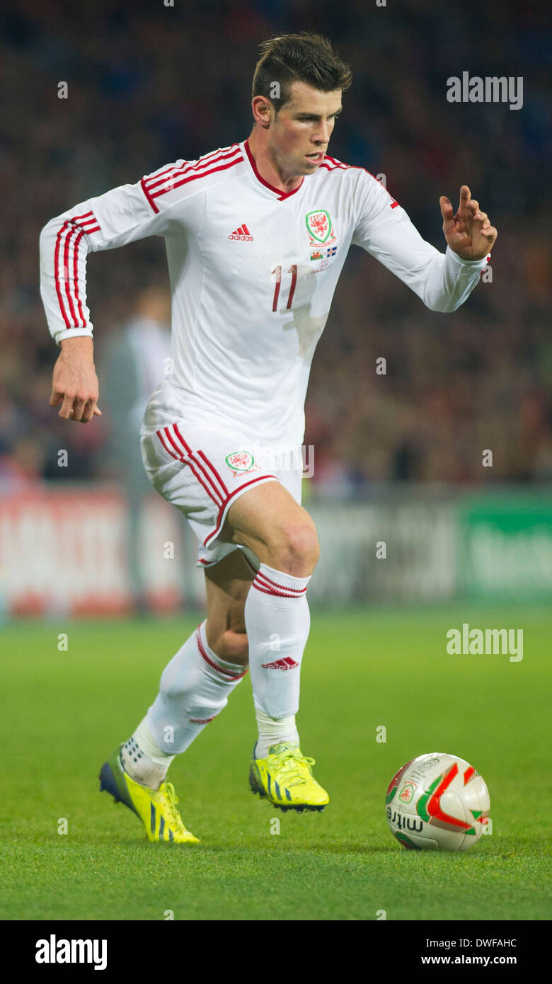 Gareth Bale playing for Wales Stock Royalty Free Image