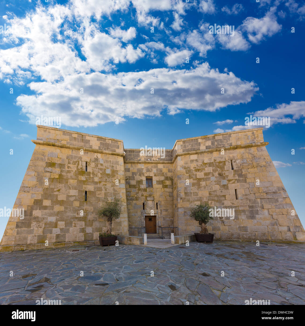Moraira castle in teulada beach at mediterranean alicante - Stock uno alicante ...
