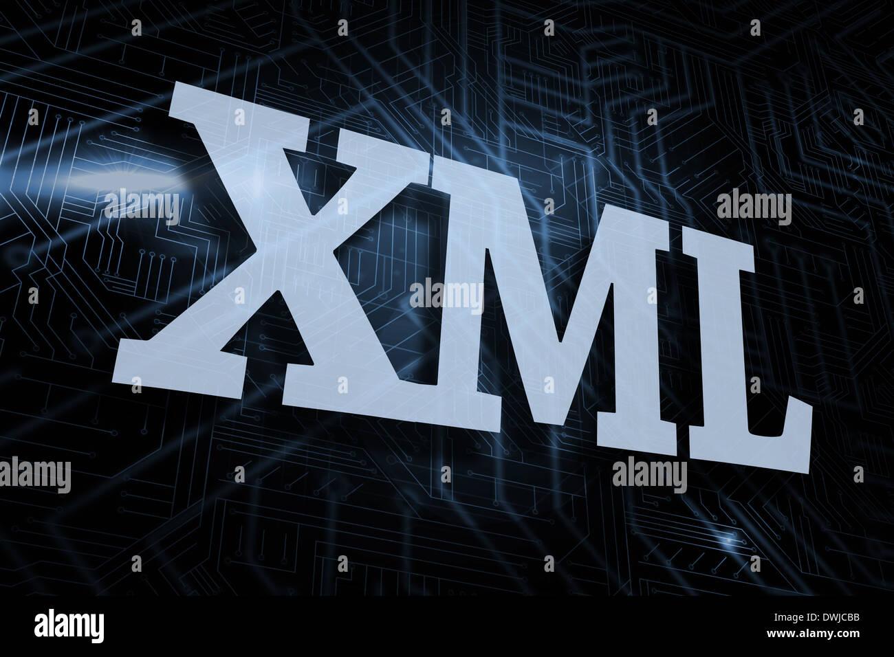 Background image xml - Stock Photo Xml Against Futuristic Black And Blue Background