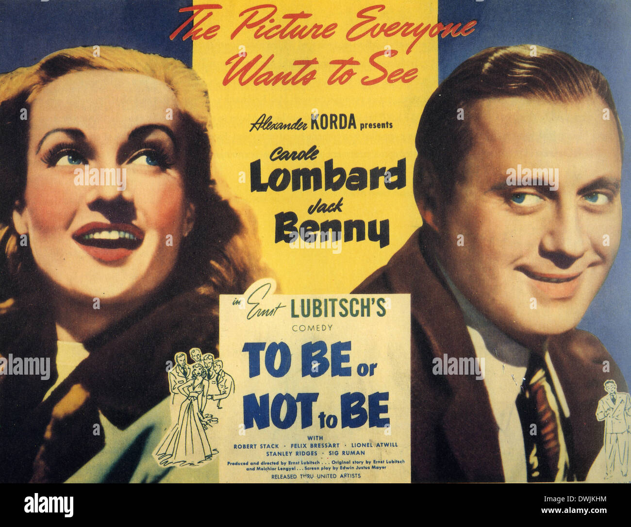 TO BE OR NOT TO BE 1942 Romaine Film Corporation film with ...
