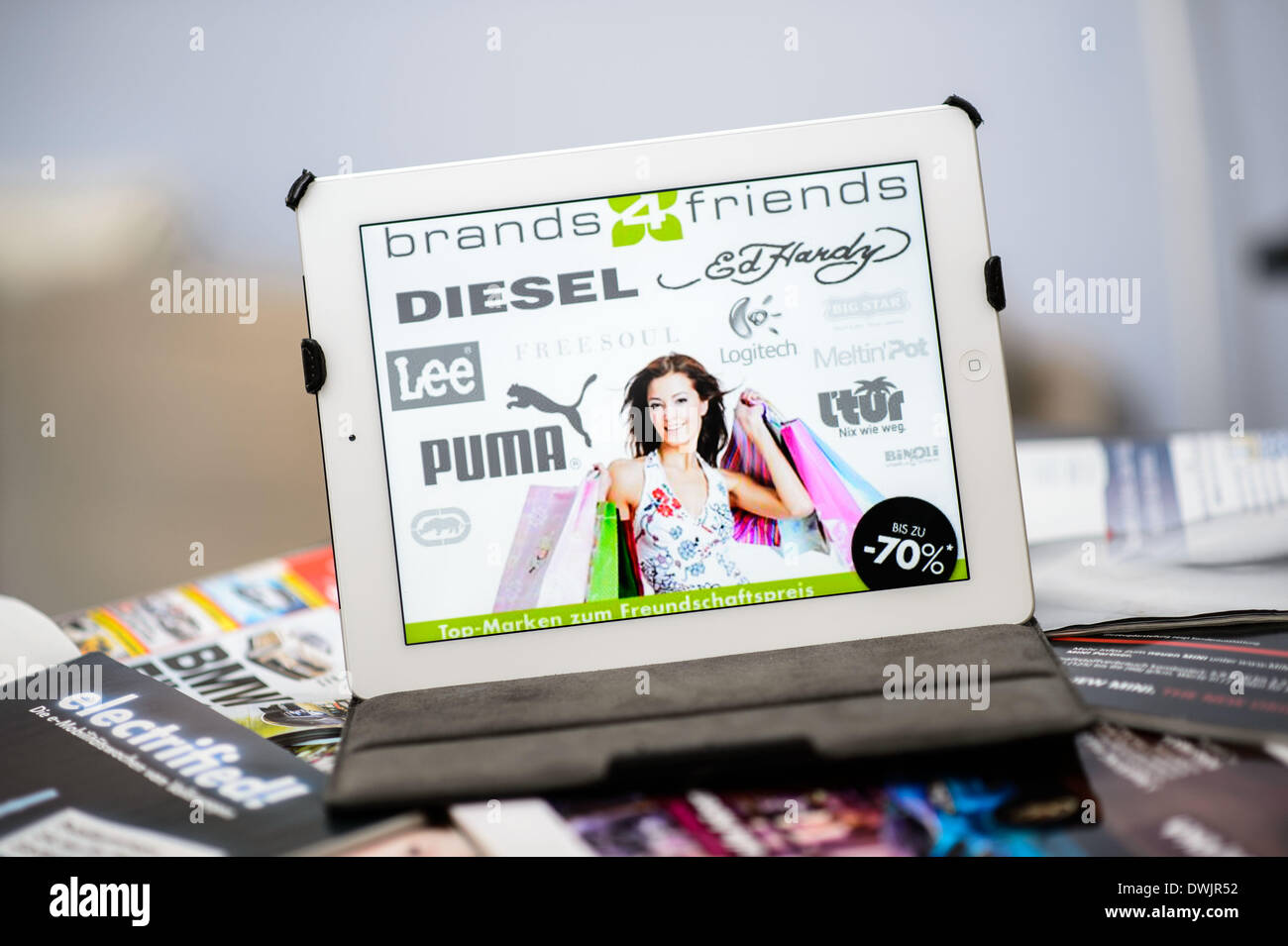 Brands4friends on a is seen the website of the shopping stock
