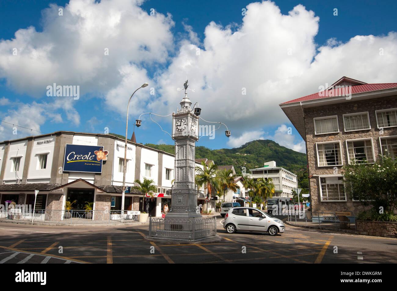 Victoria Mahe Seychelles Indian Ocean Africa Stock Photo - Seychelles victoria map indian ocean