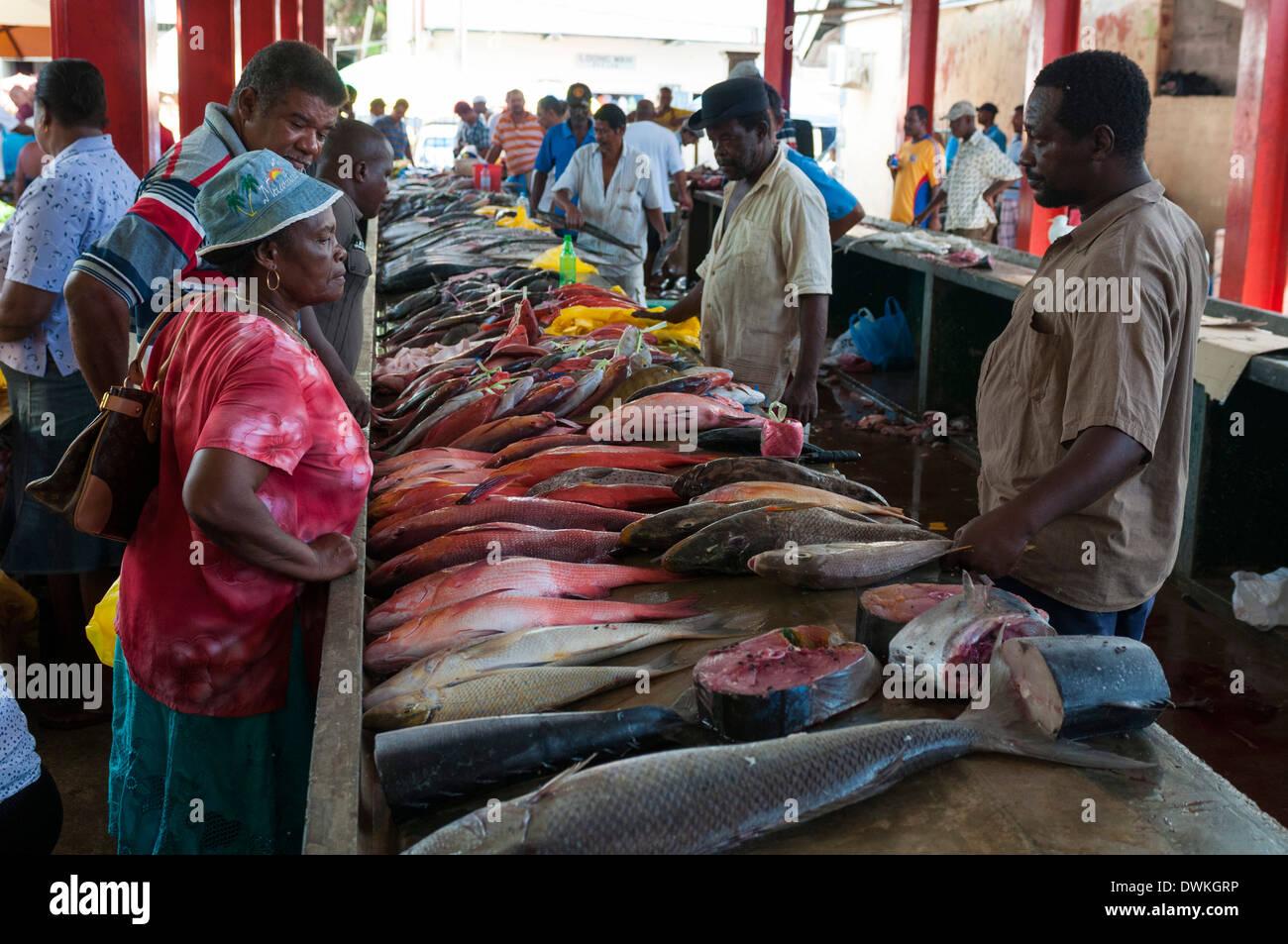 Market Victoria Mahe Seychelles Indian Ocean Africa Stock - Seychelles victoria map indian ocean