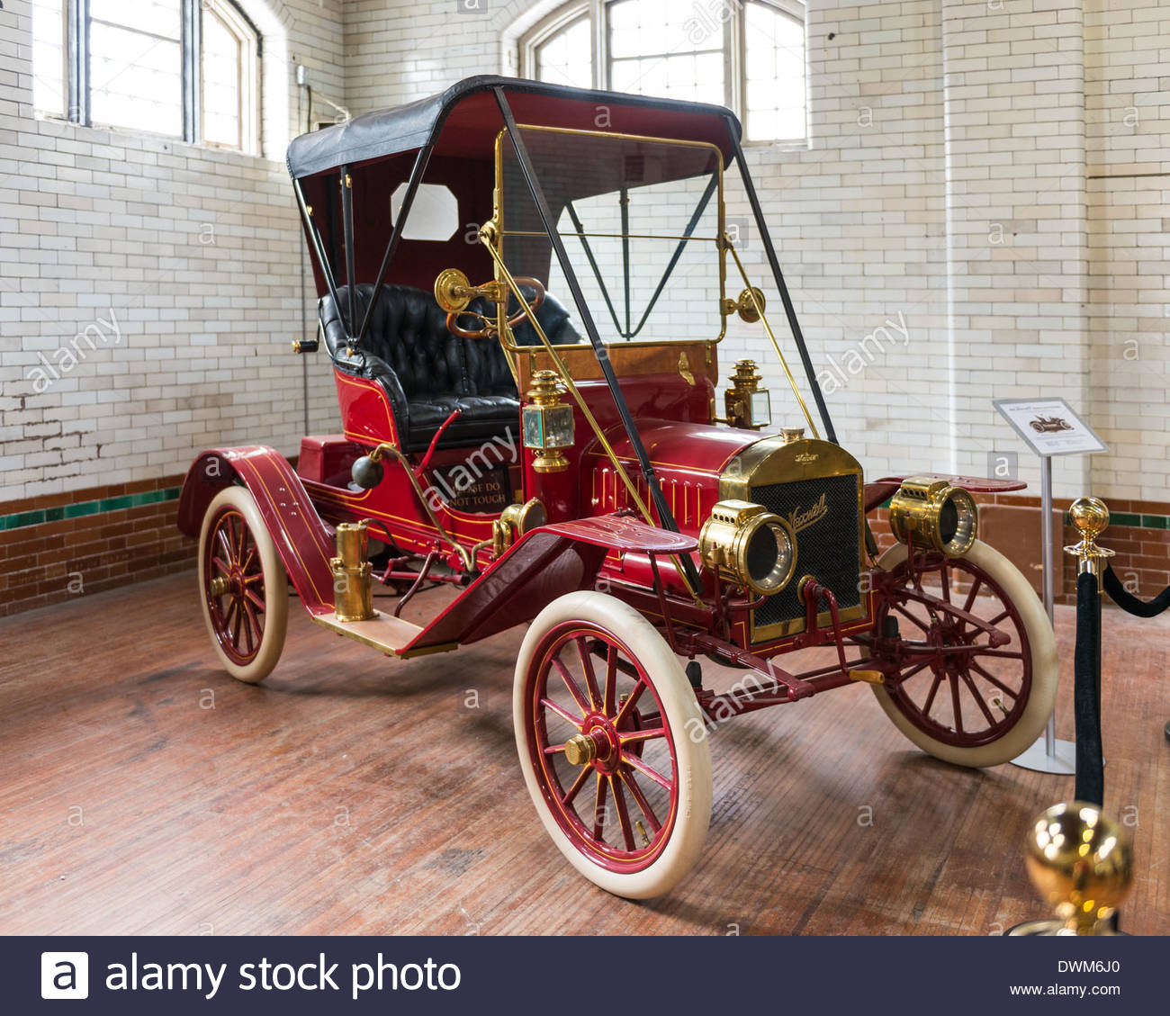 Display of old classic vehicles at Casa Loma in Toronto, Canada ...