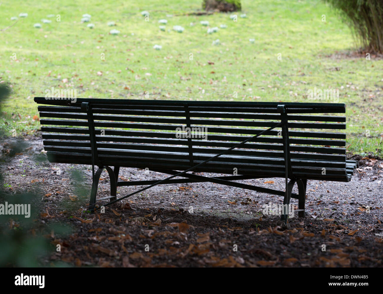 Park bench front