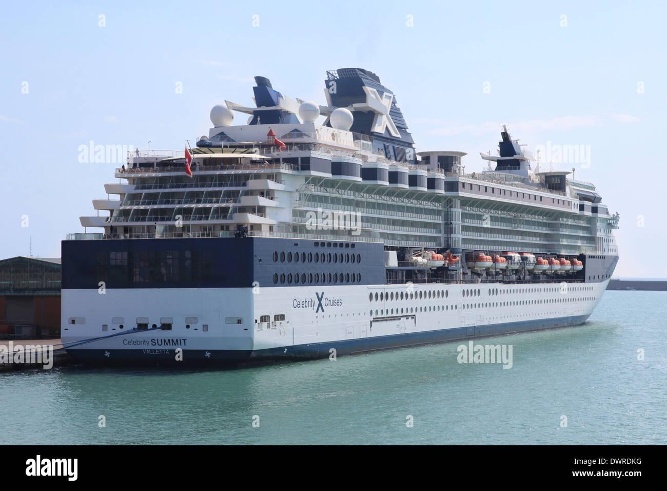 Luxury MillenniumClass Cruise Ship CELEBRITY SUMMIT Docked At - Summit cruise ship