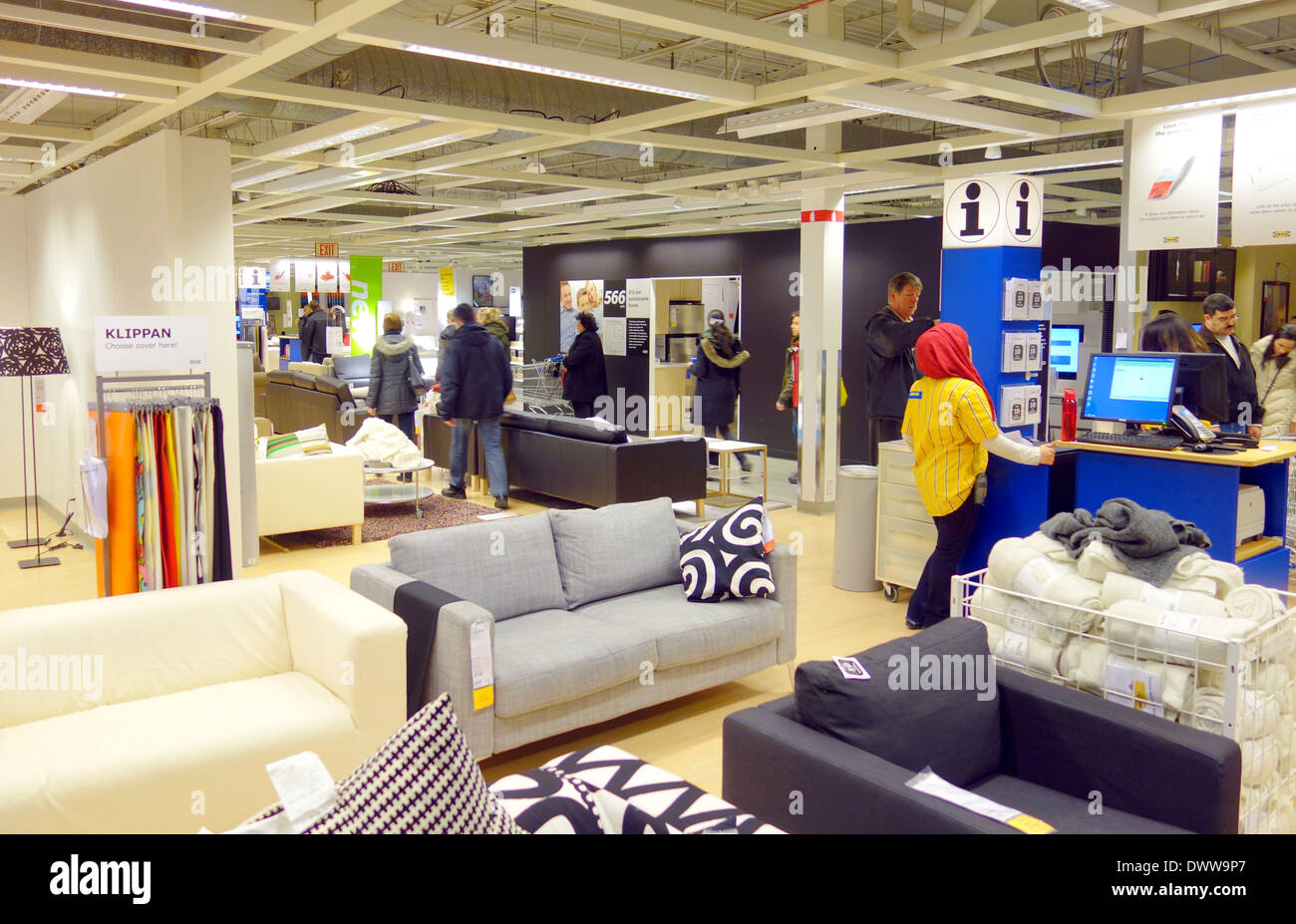 Furniture Selection At An Ikea Store In Toronto, Canada