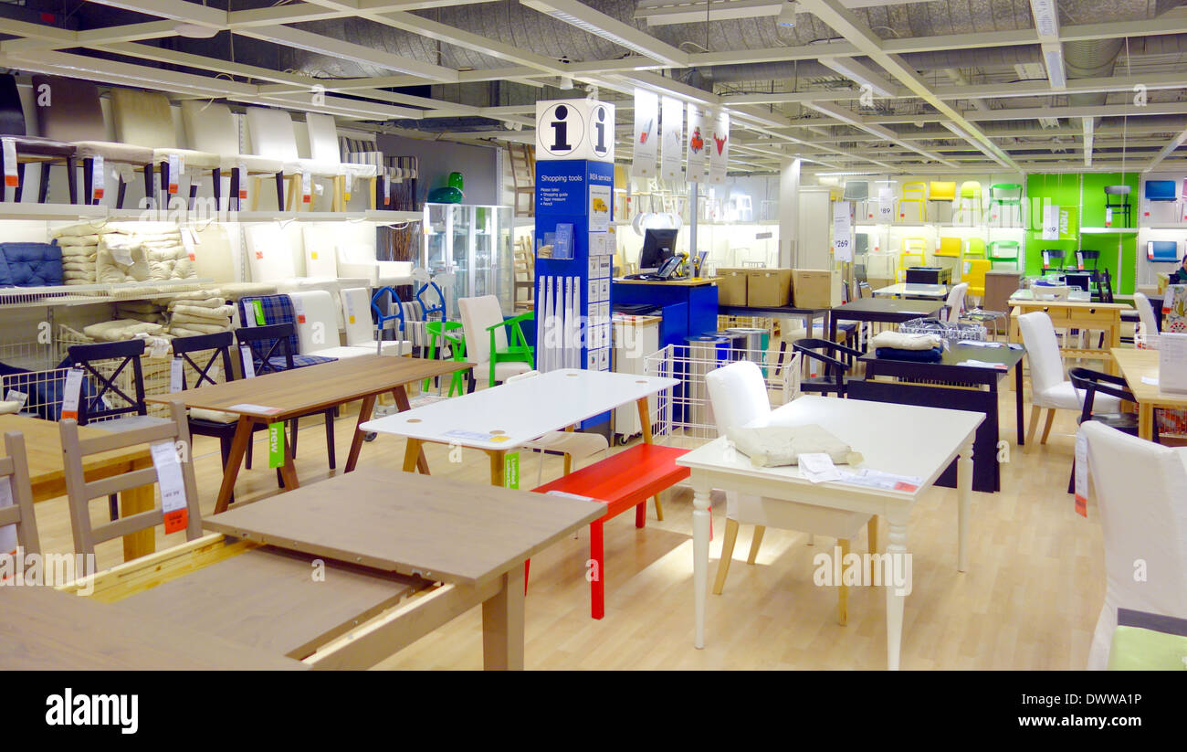 Stock Photo   Tables And Chairs At An Ikea Store I Toronto, Canada