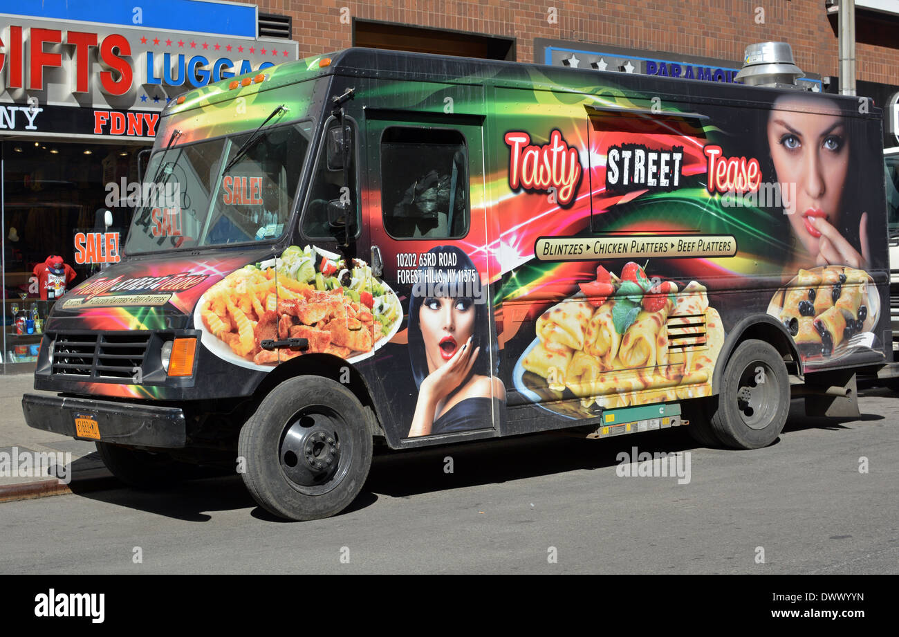 Tasty Street Tease A Food Truck In Midtown Manhattan New York City