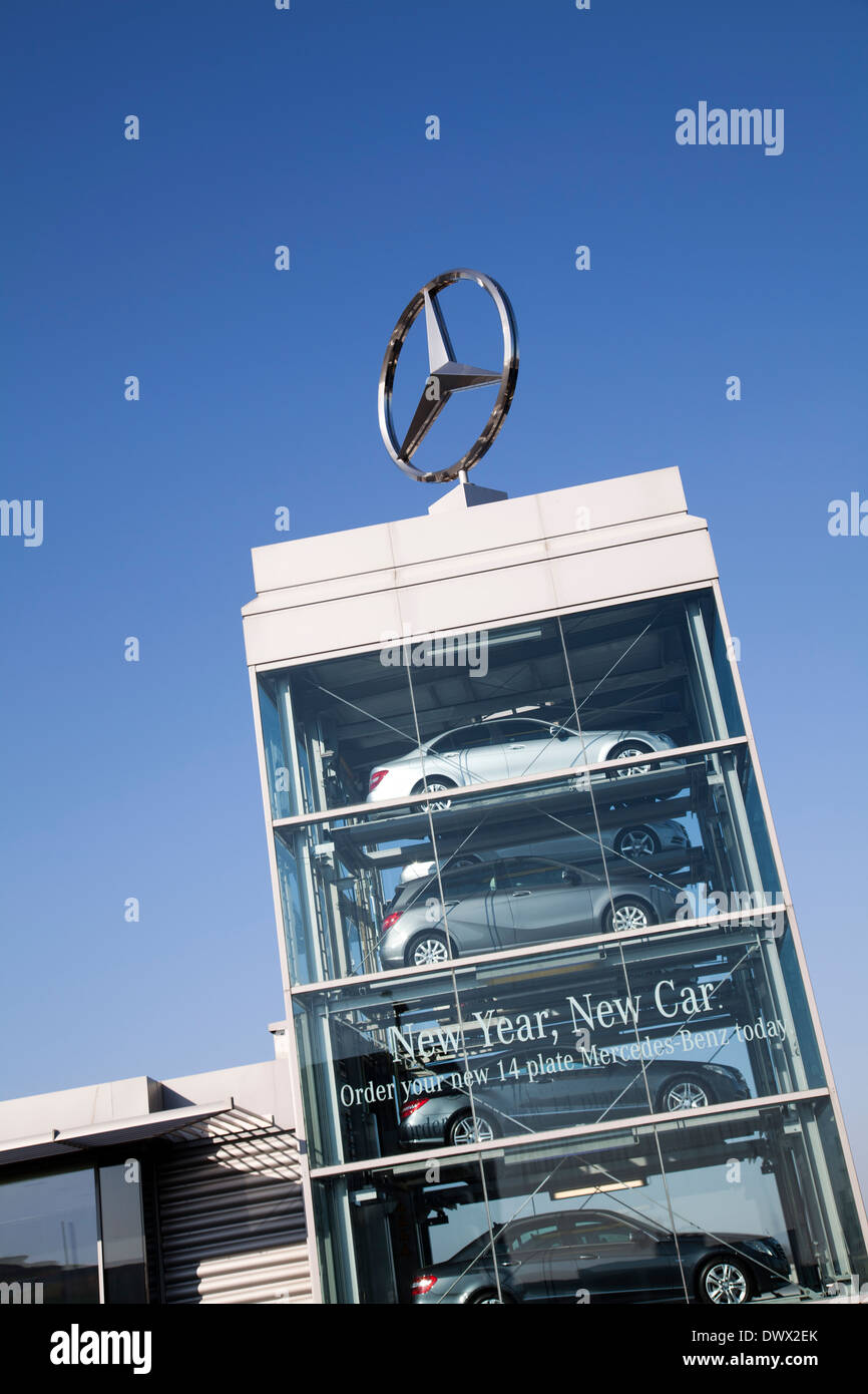 Mercedes West London Showroom Uk Stock Photo Royalty