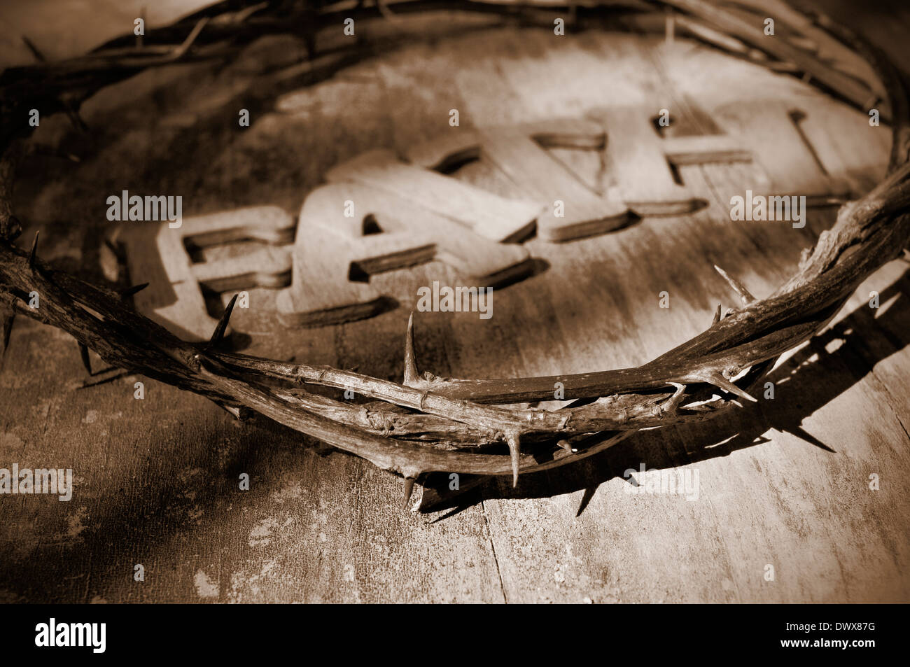 Silhouette of the holy cross on background of storm clouds stock -  Word Faith And The Jesus Christ Crown Of Thorns In The Holy Cross Stock Photo