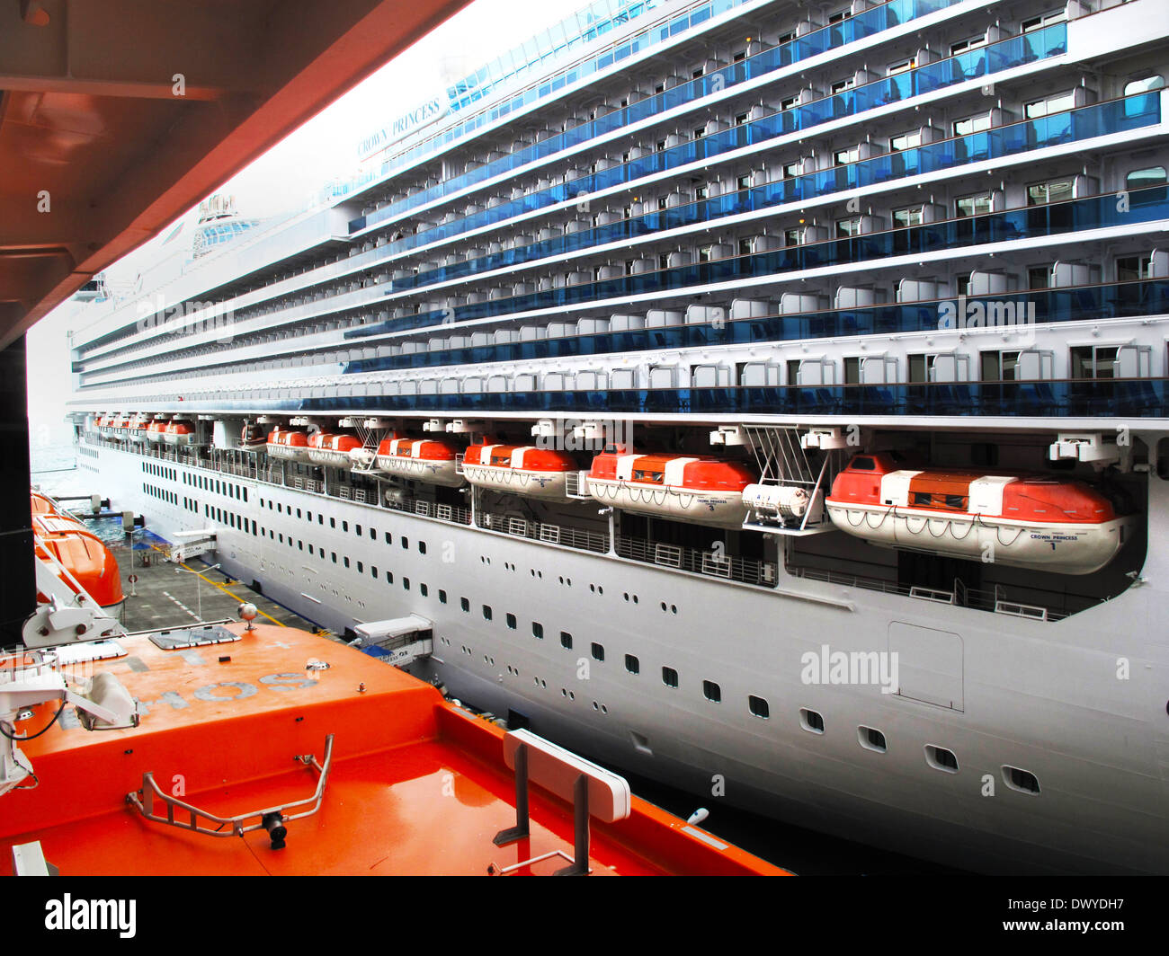 Eurodam Cruise Ship Life Boats Stock Photo Royalty Free Image - Eurodam cruise ship