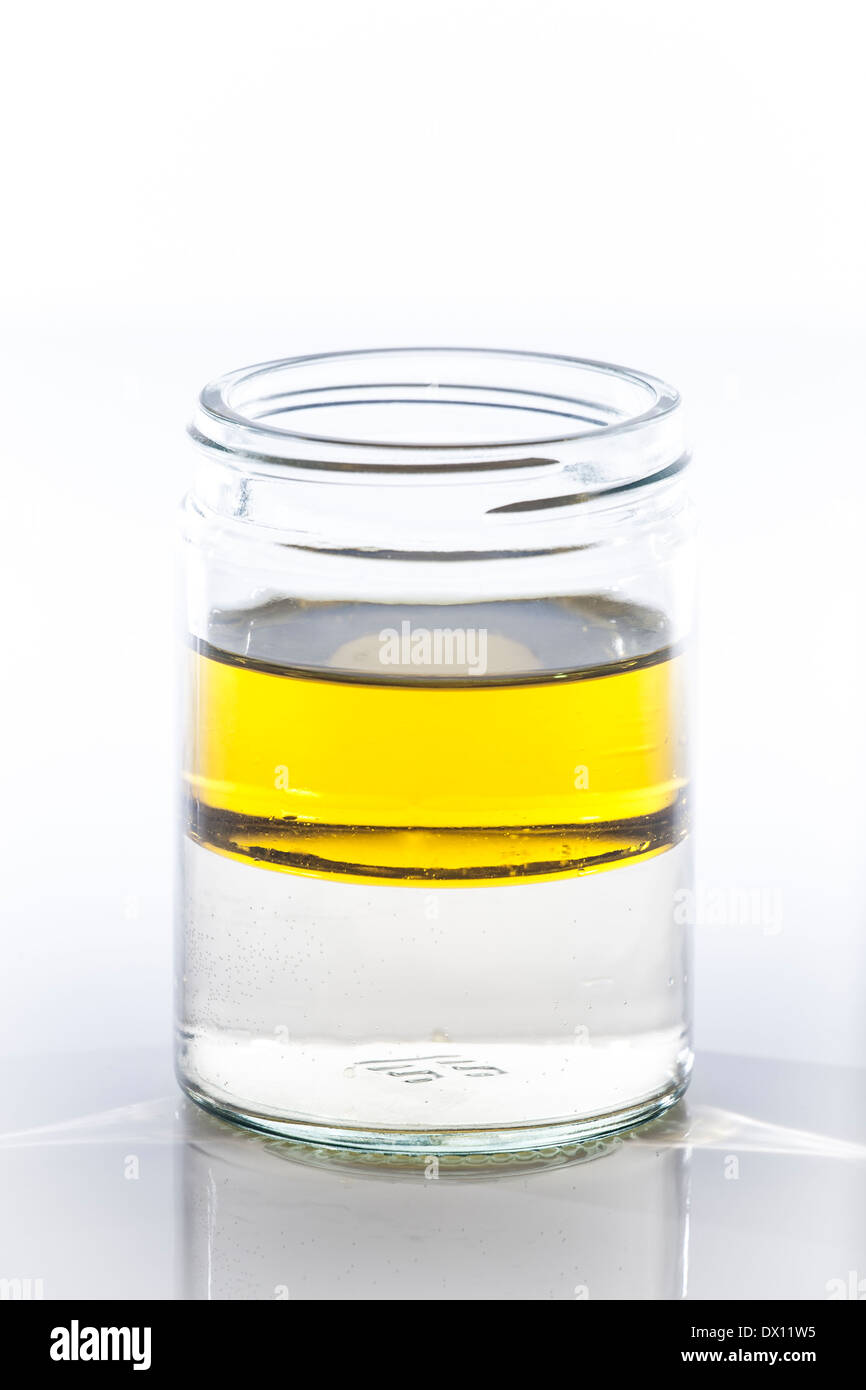 Oil & Water in a glass jar Stock Photo, Royalty Free Image ...
