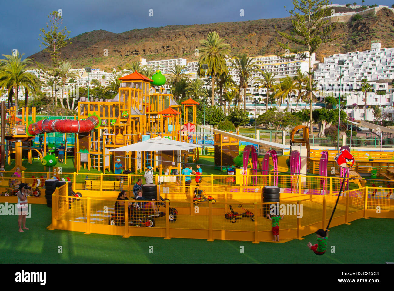 angry birds theme park puerto rico gran canaria island the canary stock photo royalty free. Black Bedroom Furniture Sets. Home Design Ideas