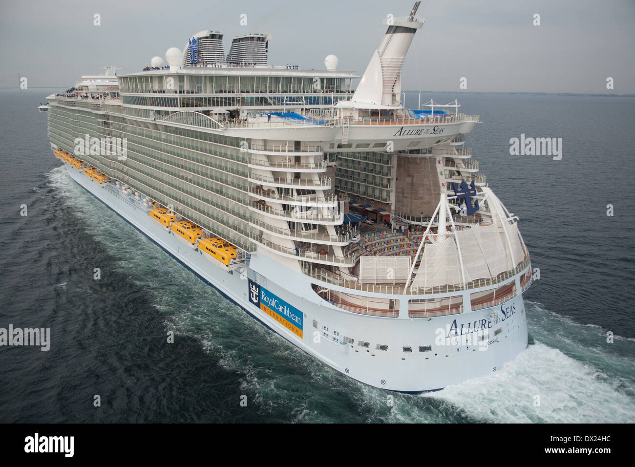 Aerial Photo Of Allure Of The Seas A Cruise Ship Owned By Royal Stock Photo Royalty Free Image ...