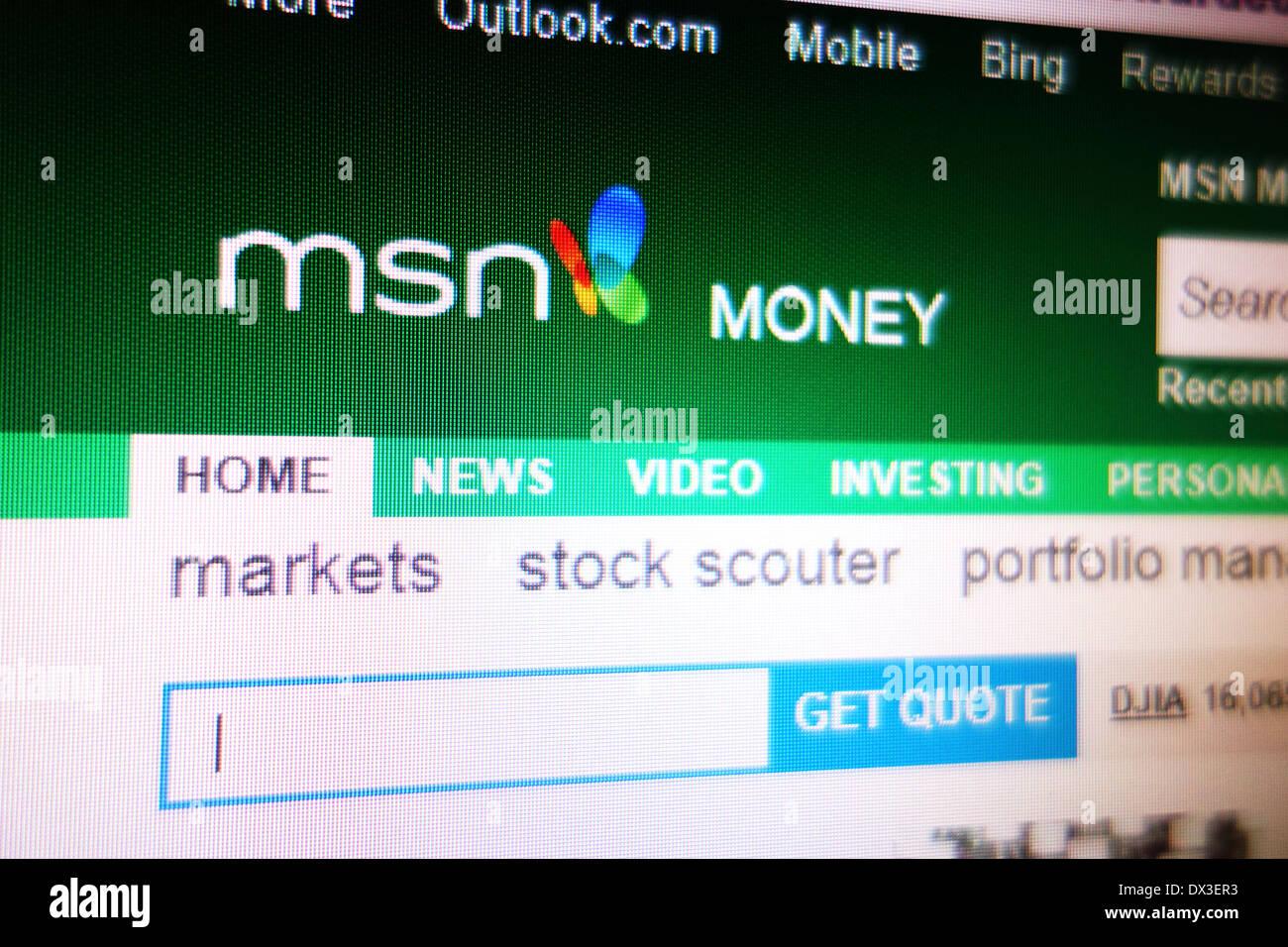 Msn Money Stock Quotes Msn Money Website Stock Photo Royalty Free Image 67689639  Alamy