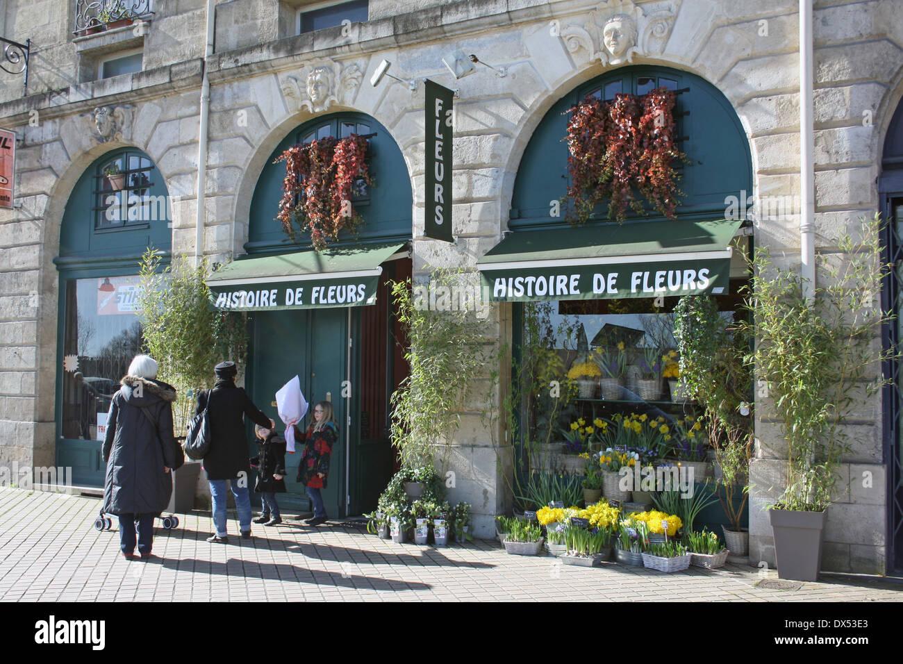 florist 39 s shop quai richelieu bordeaux france stock. Black Bedroom Furniture Sets. Home Design Ideas