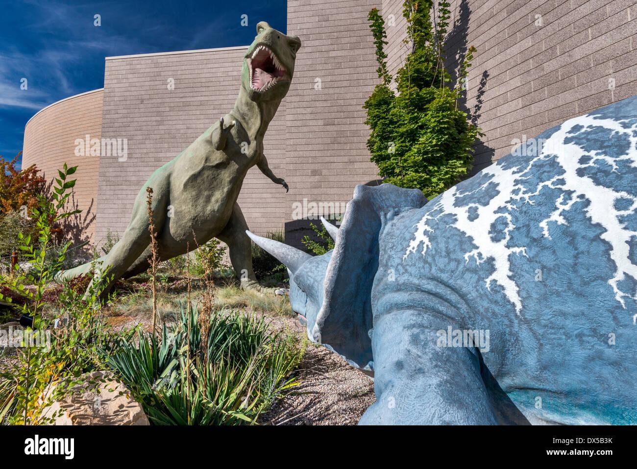 Triceratops, Tyrannosaurus Rex, Cretaceous, Dinosaur Garden, Utah Field  House Of Natural History