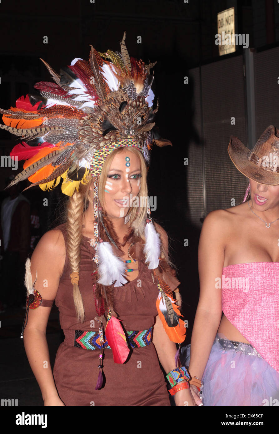 Aubrey O'Day Leaving a Halloween Party at the Roosevelt in ...