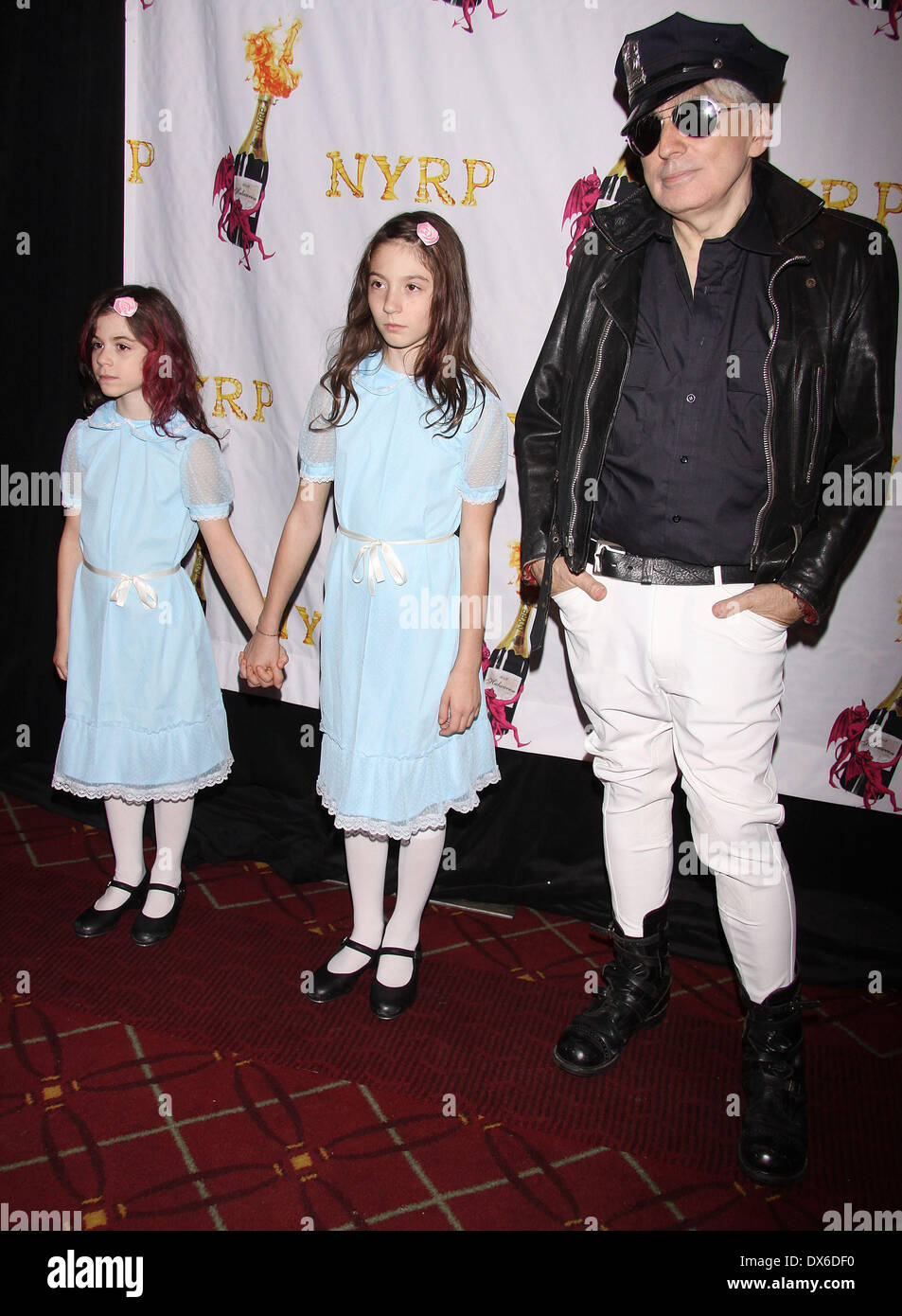Chris Stein with his daughters Akira and Valentina, attending the ...