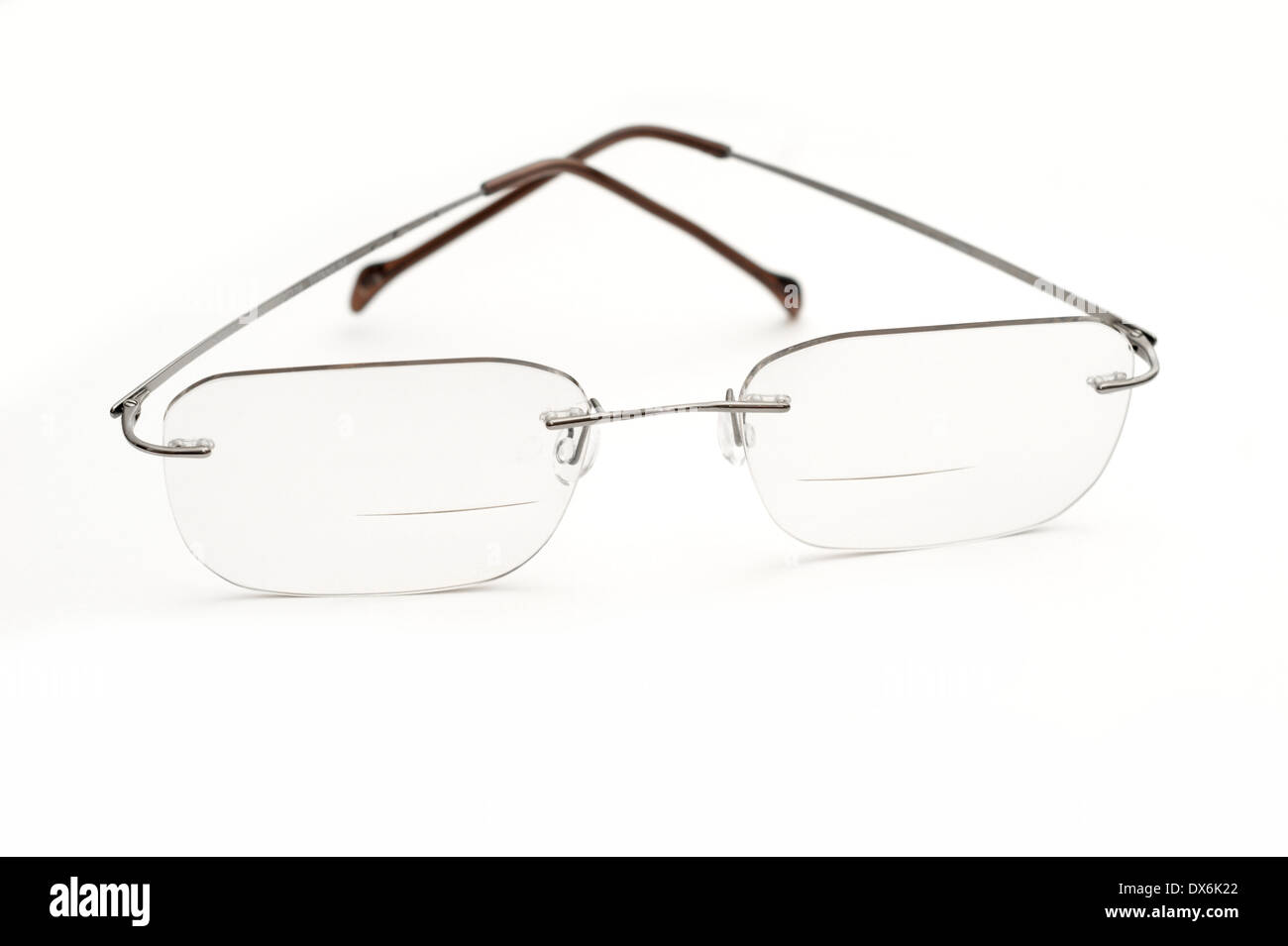 bifocal glasses  Bifocal glasses (spectacles) with transition lens for reading ...