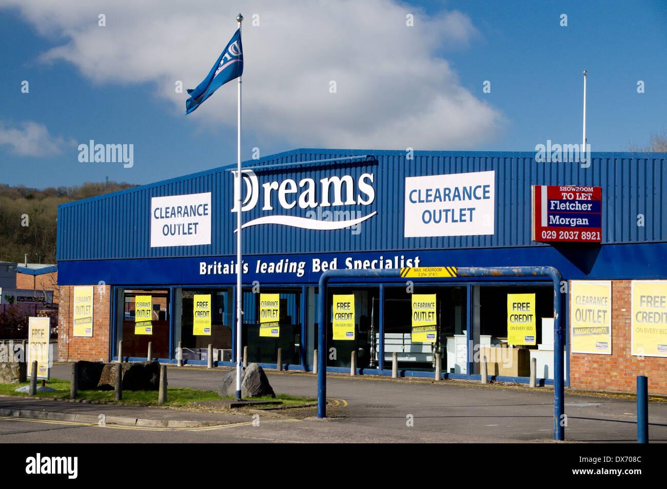 Dreams Bed Showrooms Penarth Road Cardiff Wales