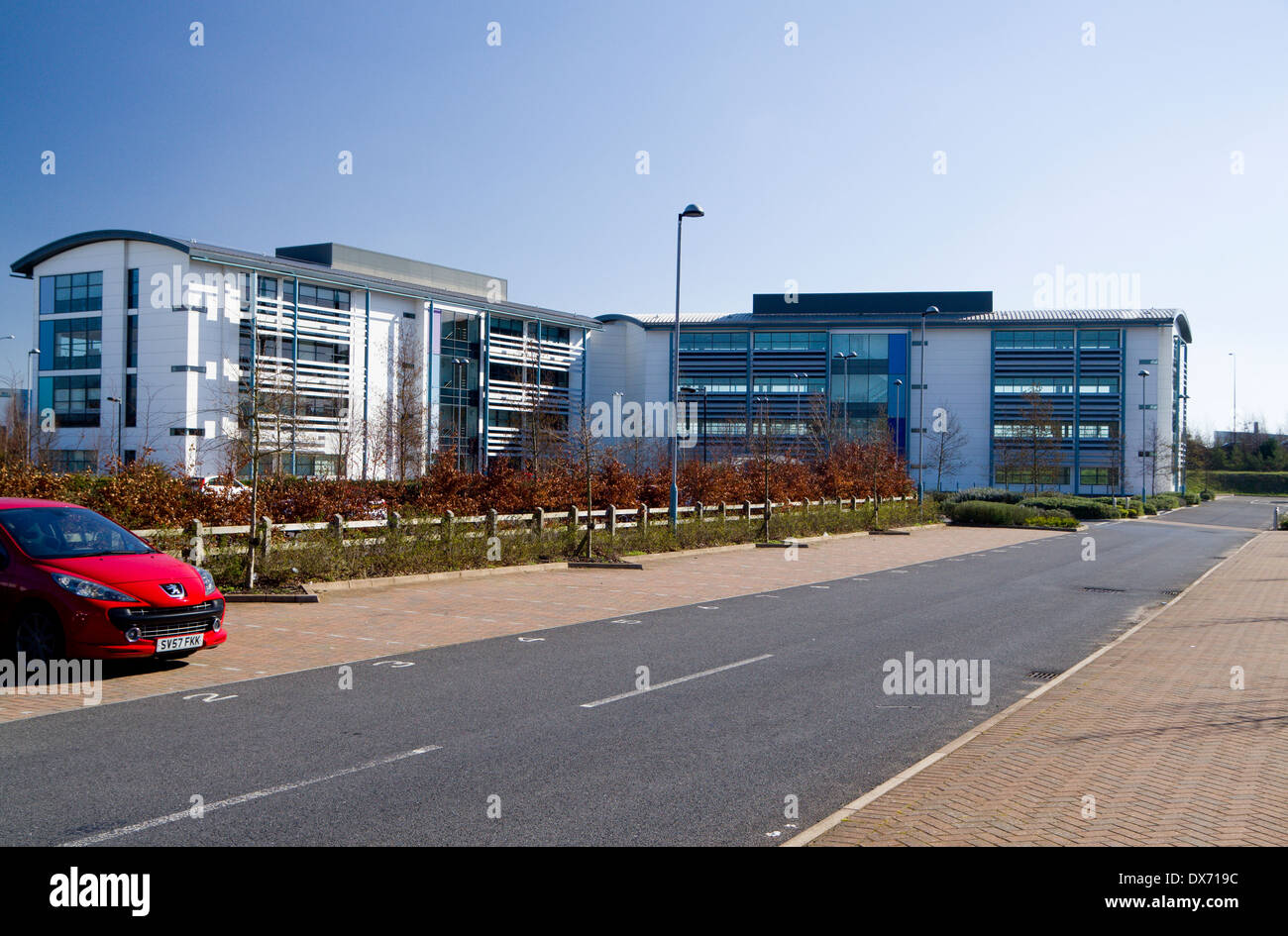 Global reach offices cardiff bay wales stock photo for Office design cardiff