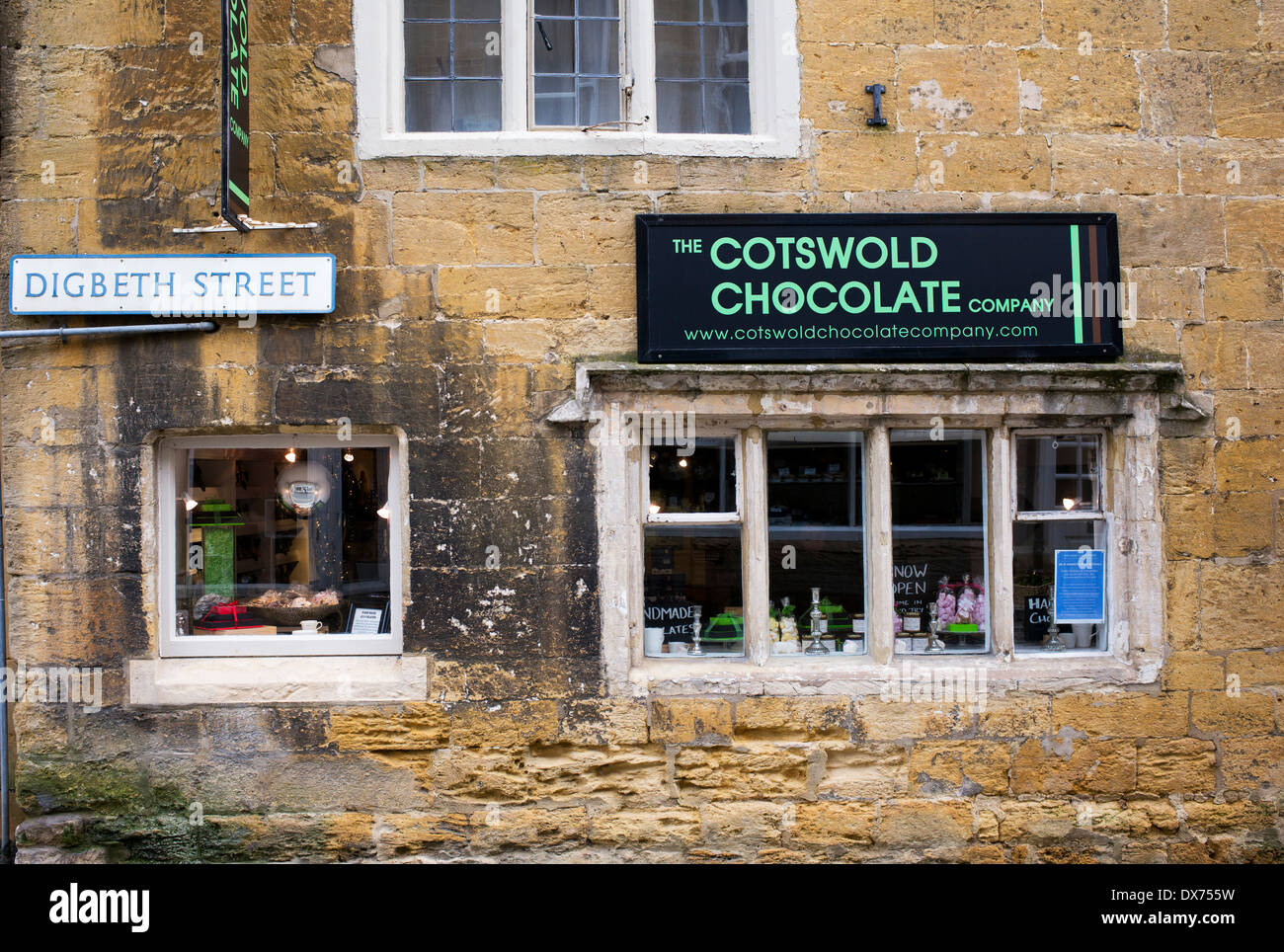 the cotswolds chocolate company shop stow on the wold cotswolds stock photo royalty free. Black Bedroom Furniture Sets. Home Design Ideas