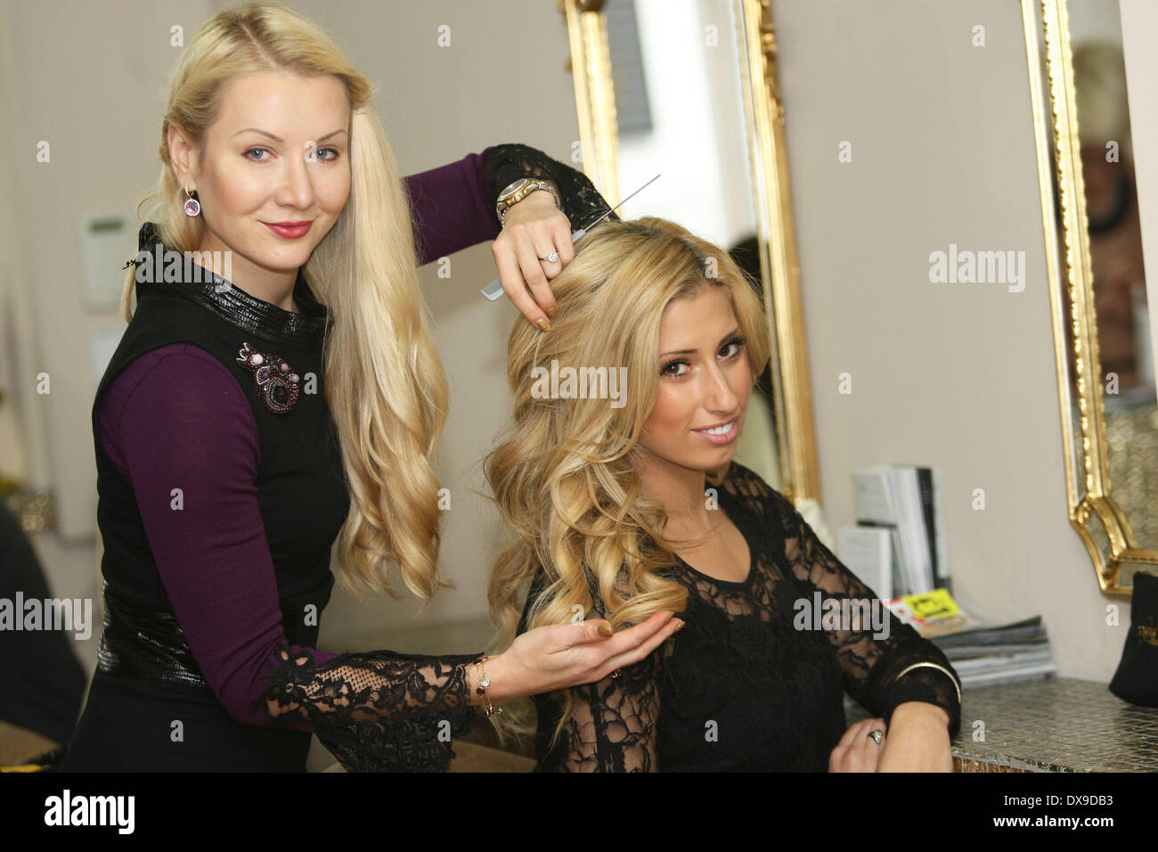 Stacey solomon at tatiana hair extensions salon in london london stacey solomon at tatiana hair extensions salon in london london england 131112 featuring stacey solomon where london u pmusecretfo Images