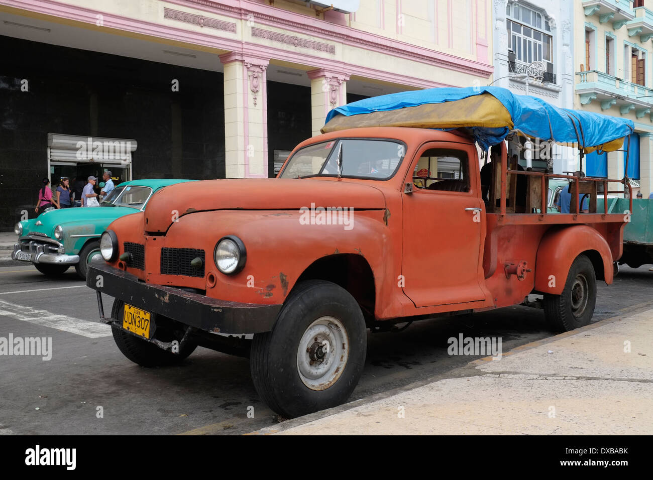 A 1950\'s american pickup truck used as a people carrier in central ...