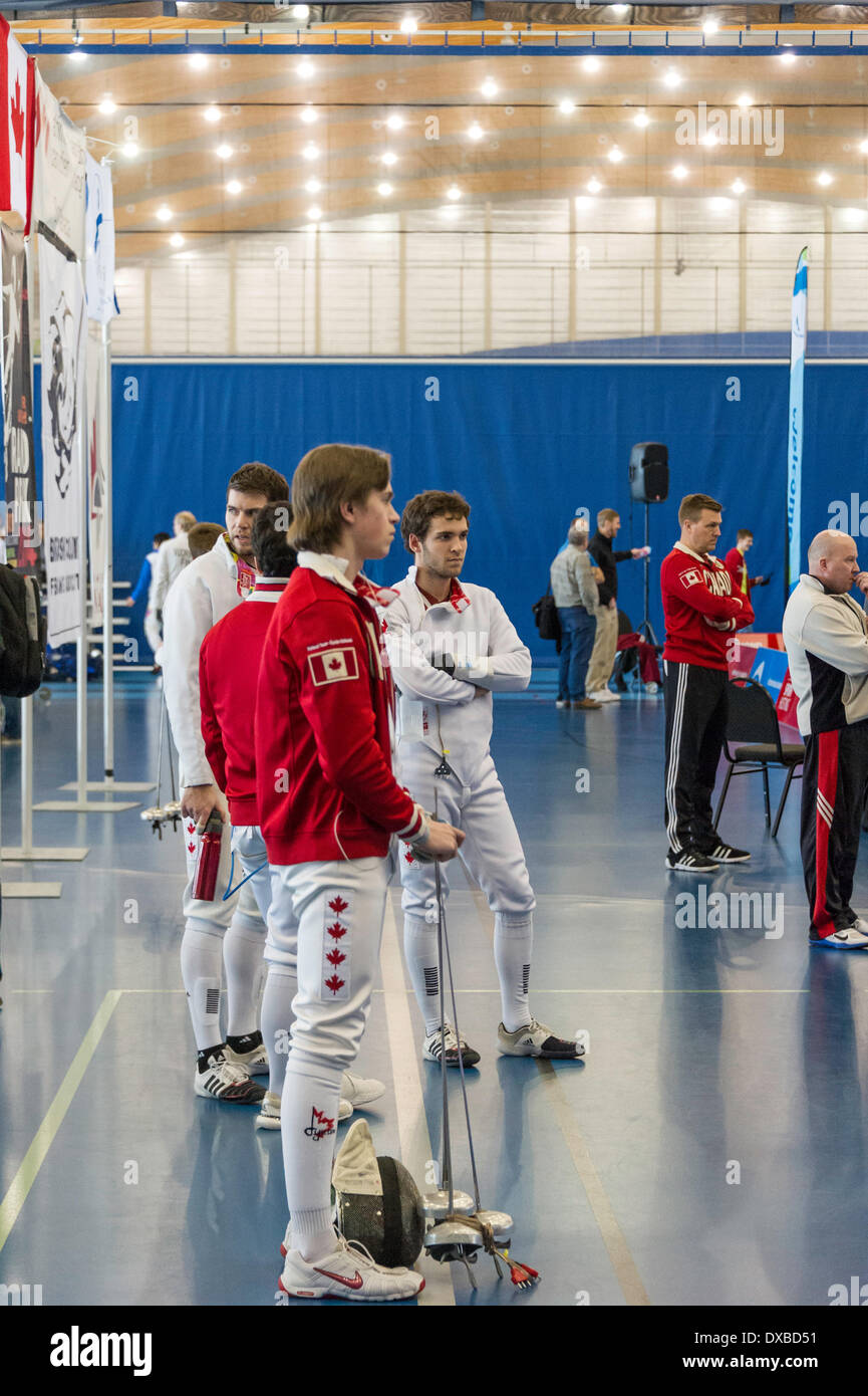 Canadian Team At Vancouver Men S 2014 Grand Prix Of Epee