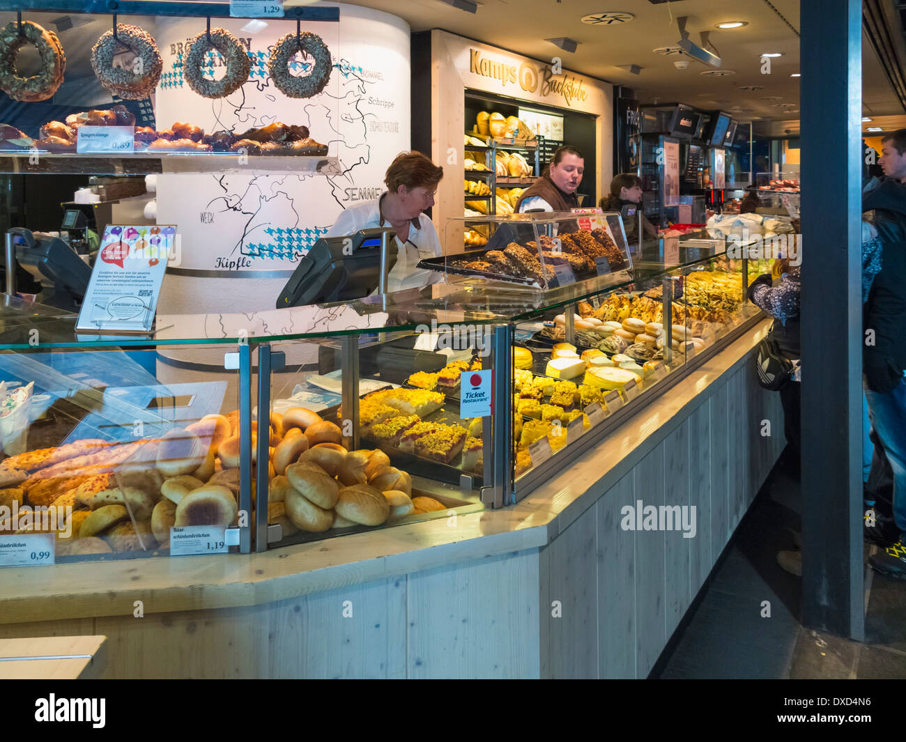 bakery or cake shop in the hauptbahnhof station berlin germany stock photo royalty free image. Black Bedroom Furniture Sets. Home Design Ideas