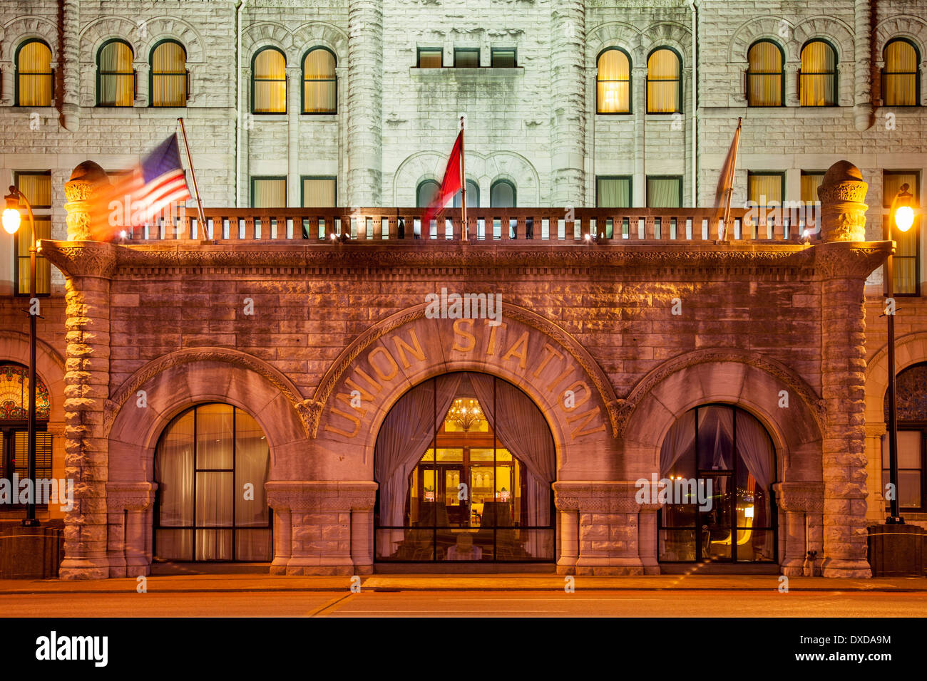 Union station restored train station now a luxury hotel nashville tennessee usa