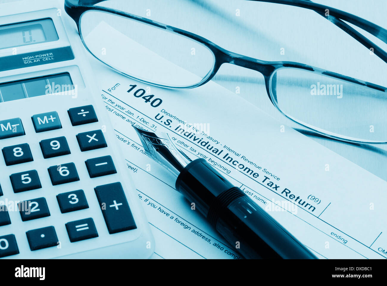 Accounting Work Space With Calculator Pen And Profit And