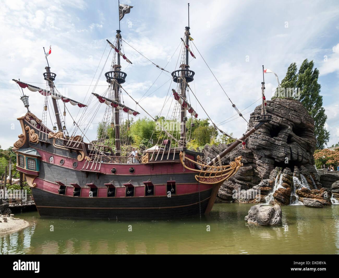 captain hook u0027s pirate ship at disneyland paris france stock photo