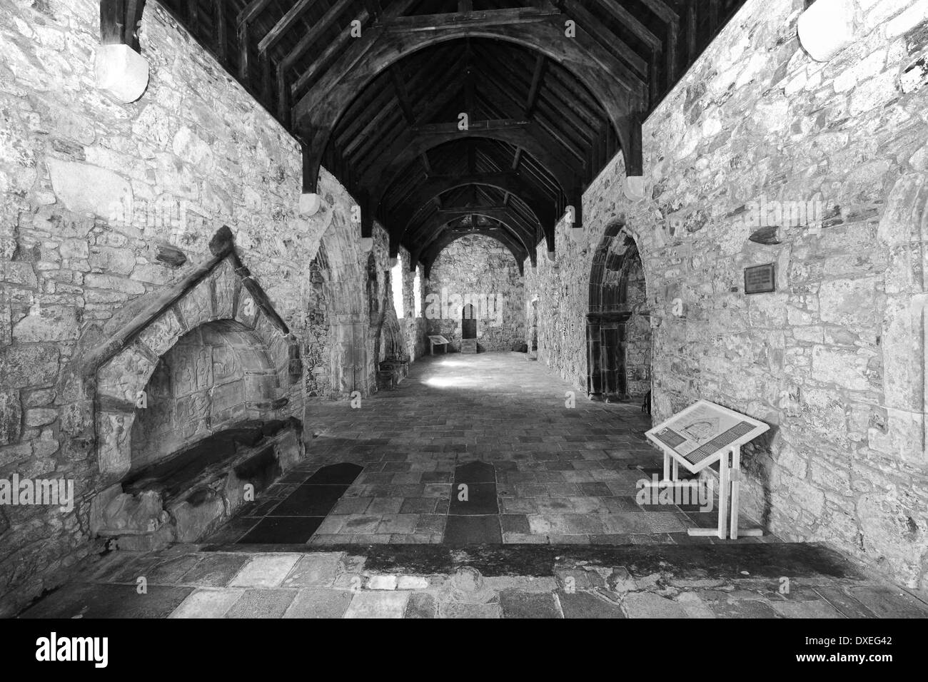 Interior of St Clements Church, Rodel, Isle of Harris ...