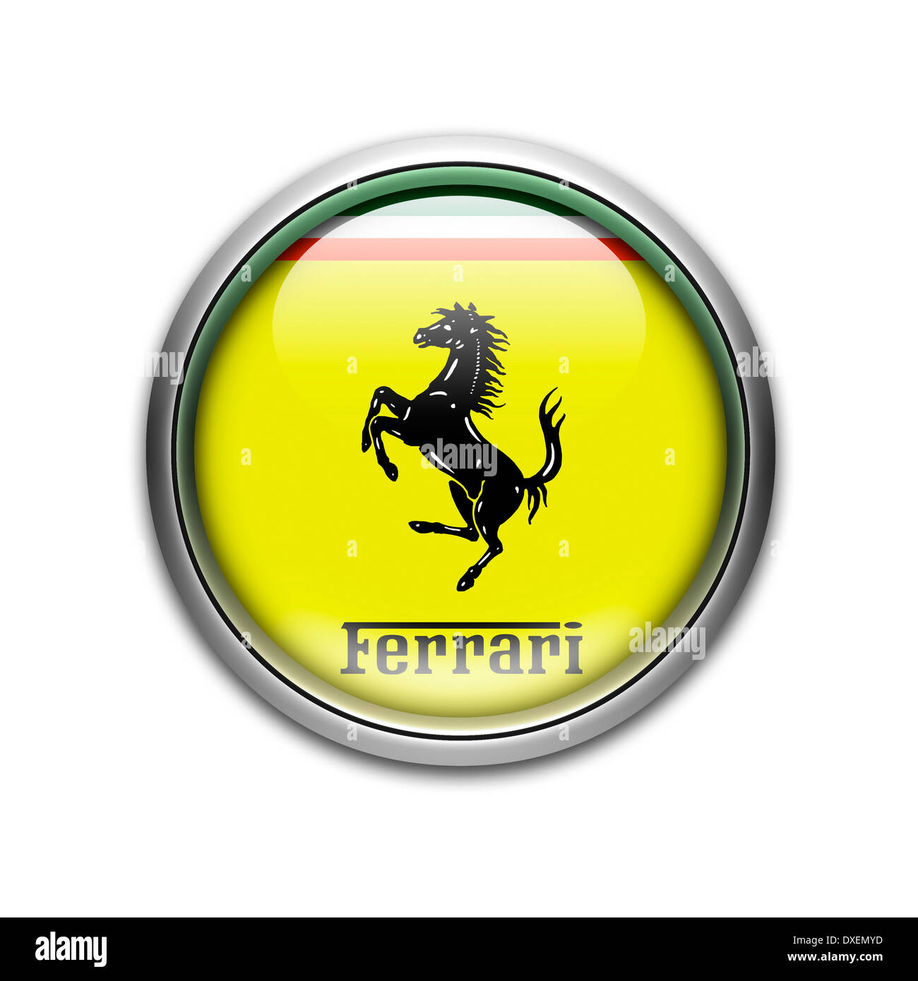 Ferrari Logo Flag Symbol Icon Emblem Stock Photo Royalty