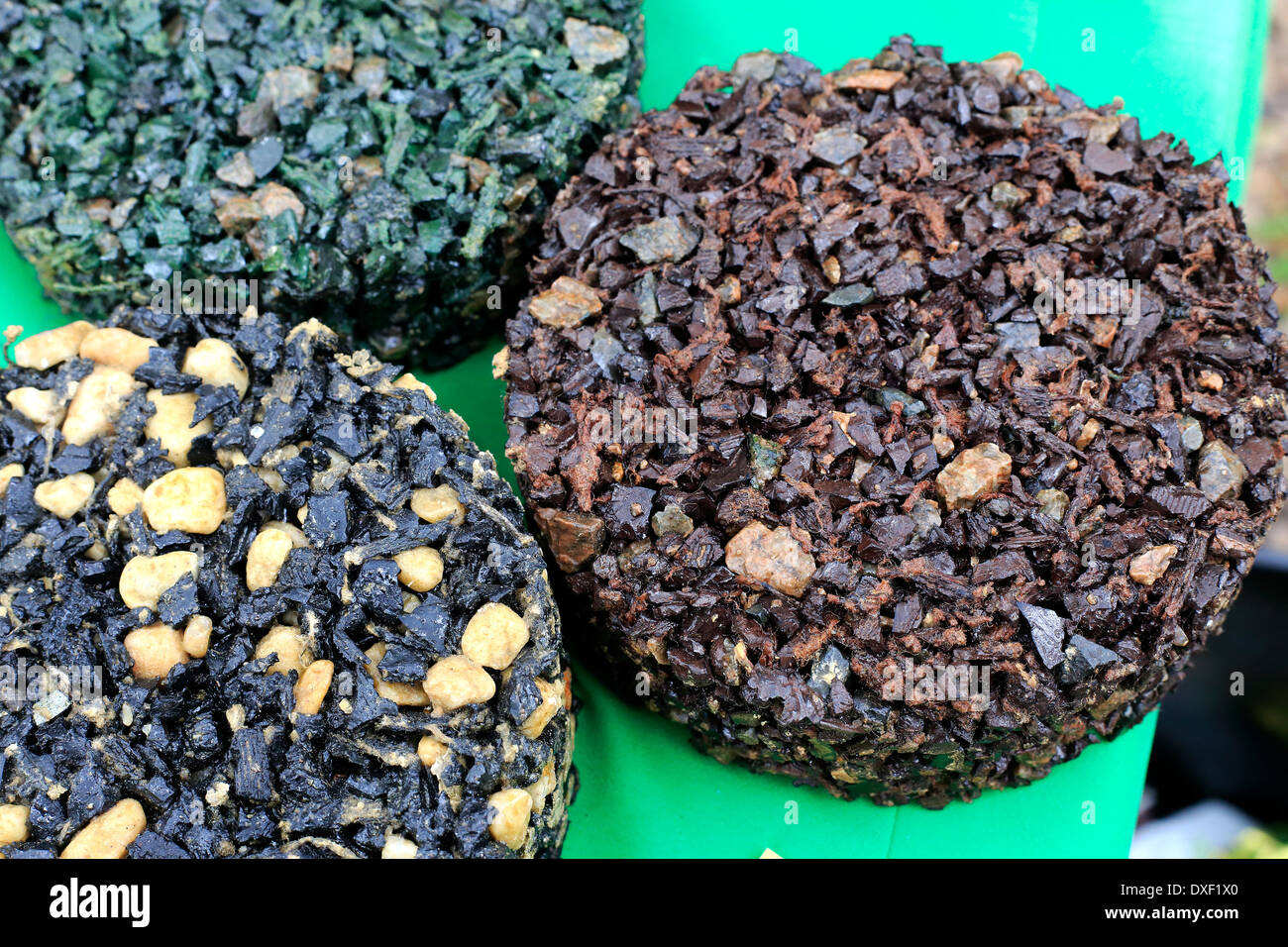 Mulch Or Surface And Pavers Made From Recycled Rubber