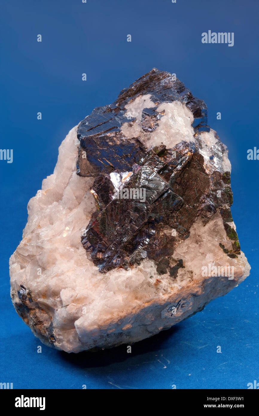 Geological Sample Of Galena In A Matrix Of Calcite,north Wales ...