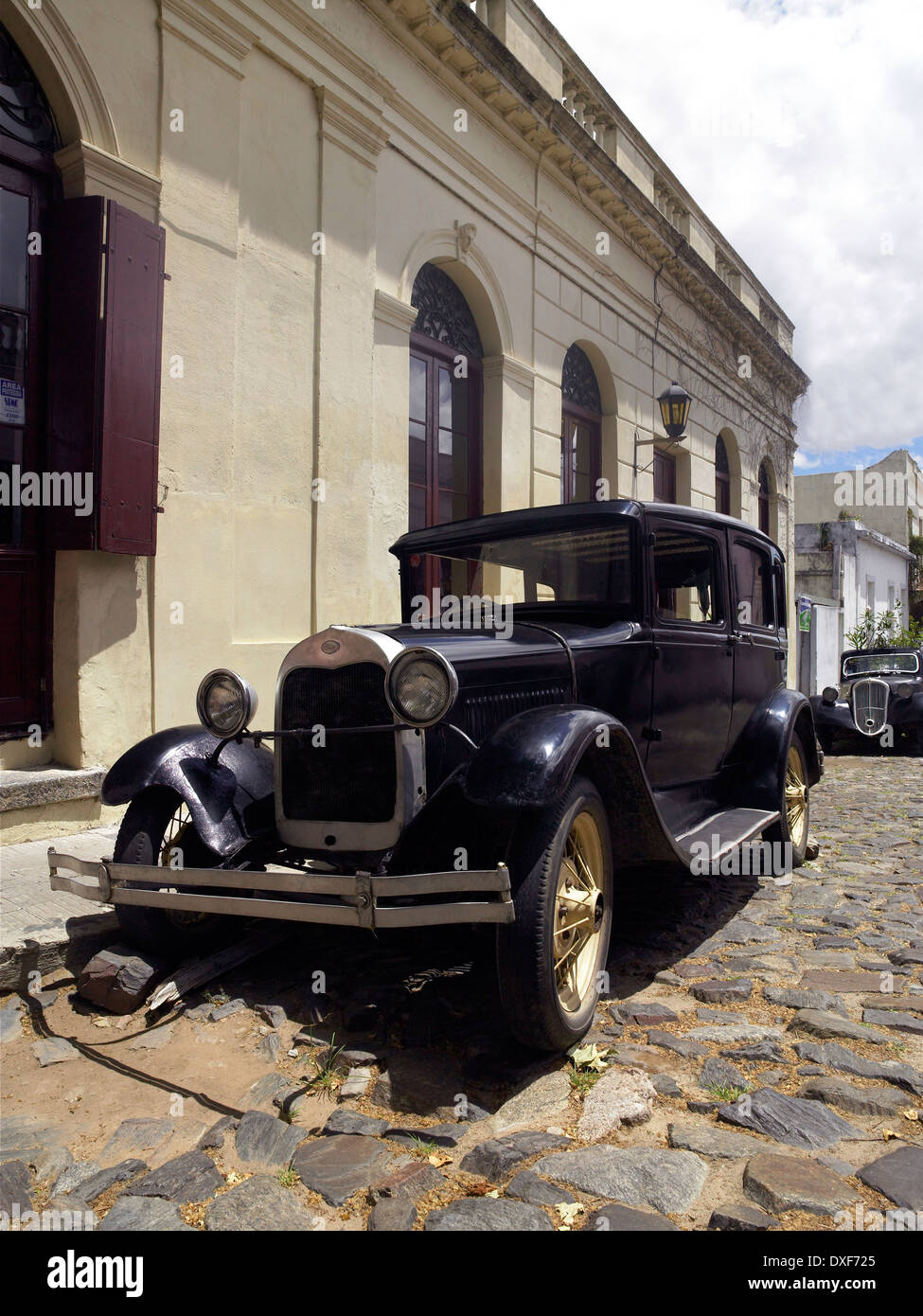 Old cars being used as a street ornament in the UNESCO World ...
