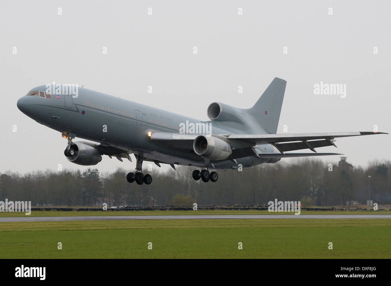 Marvelous TriStar Aircraft Operated By The RAF Landed For The Final Time For Storage  And Eventual Scrapping. The Royal Air Force Conducted Its Final Operational  ...