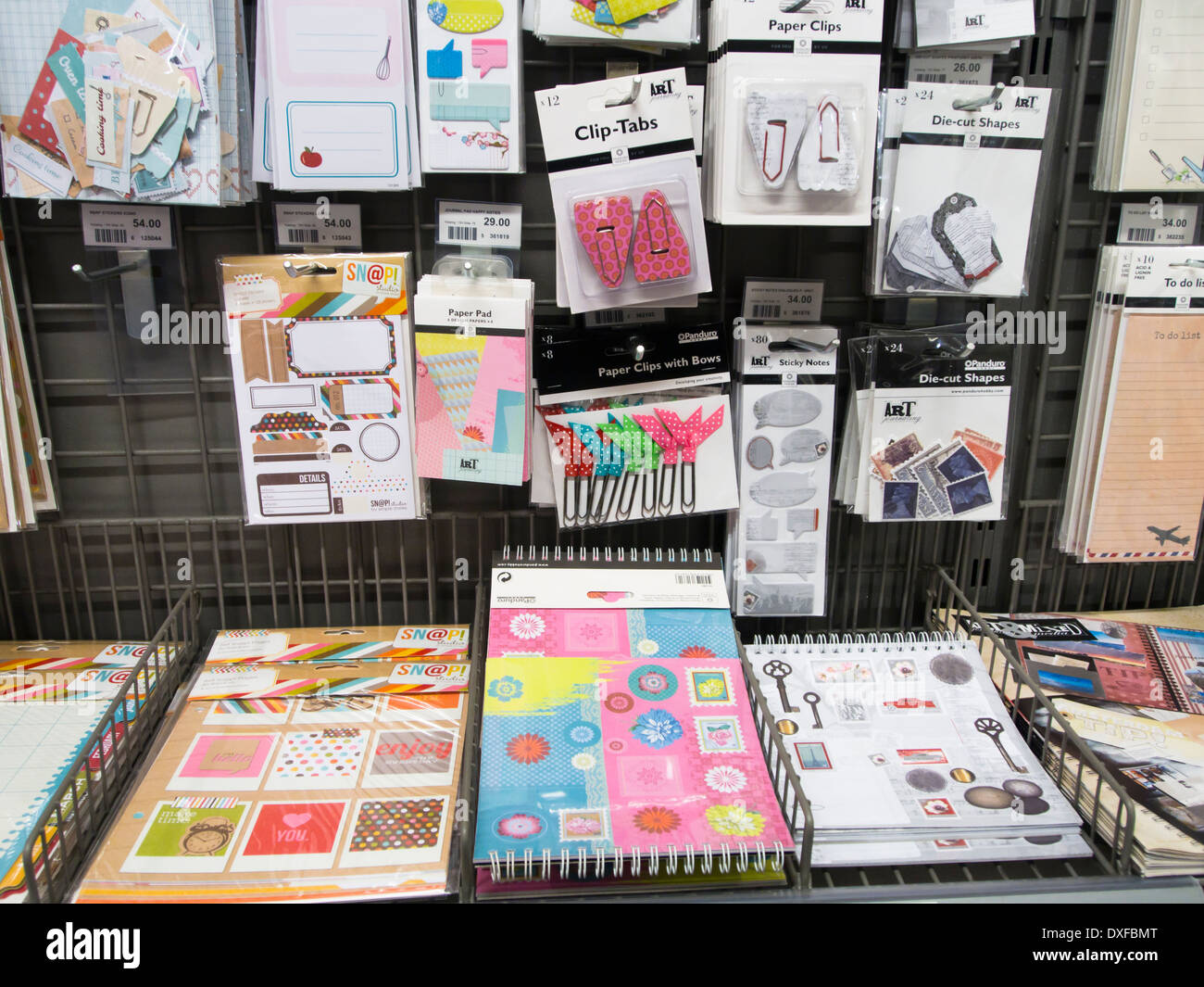 Scrapbook paper display - Decorated Papers And Other Items For Scrapbooking On Display In A Hobby And Craft Shop In Oslo Norway
