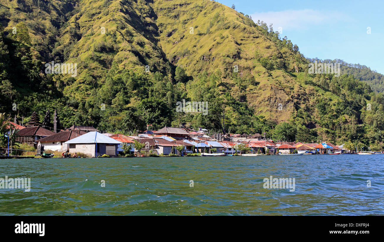The Traditional Bali Aga Village Of Trunyan Located On The Shore - Where is bali located