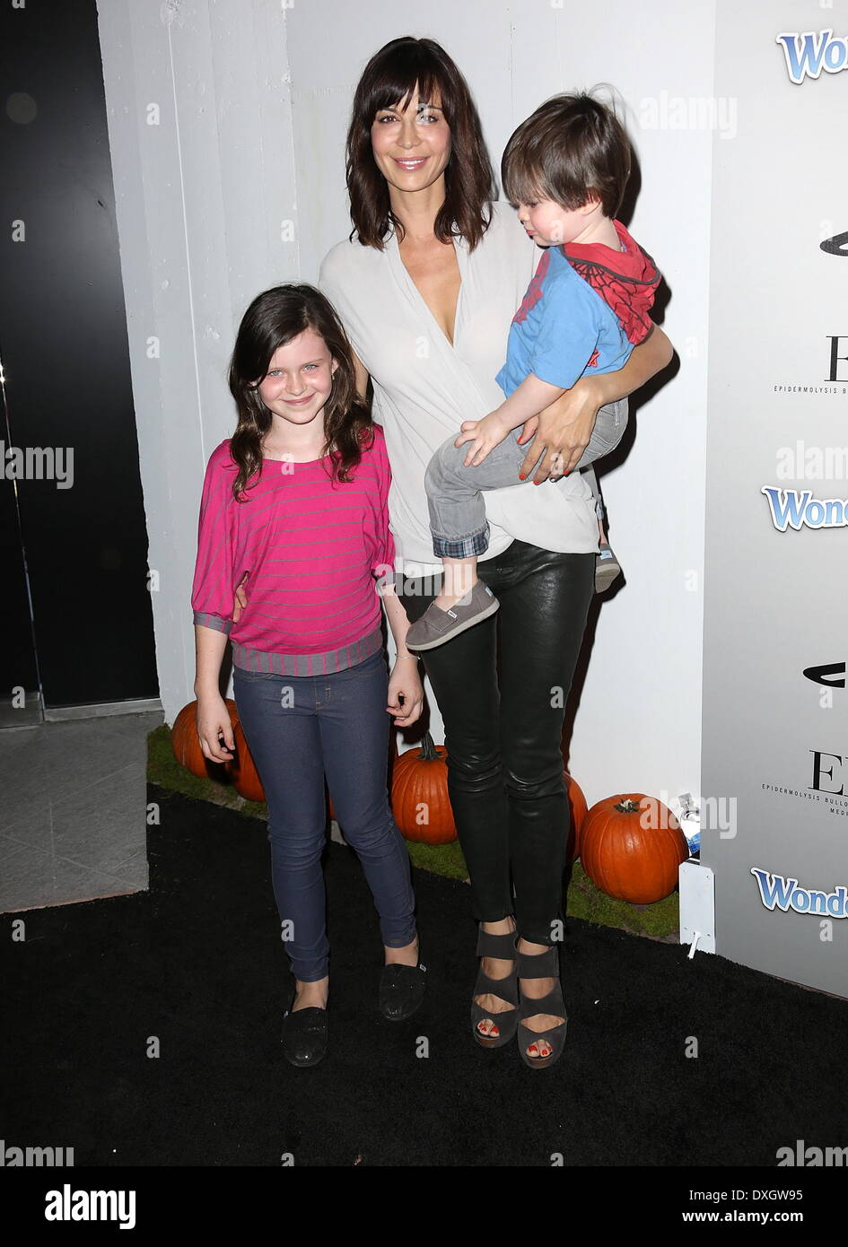 Catherine Bell and children Gemma, Ronan Beason ...
