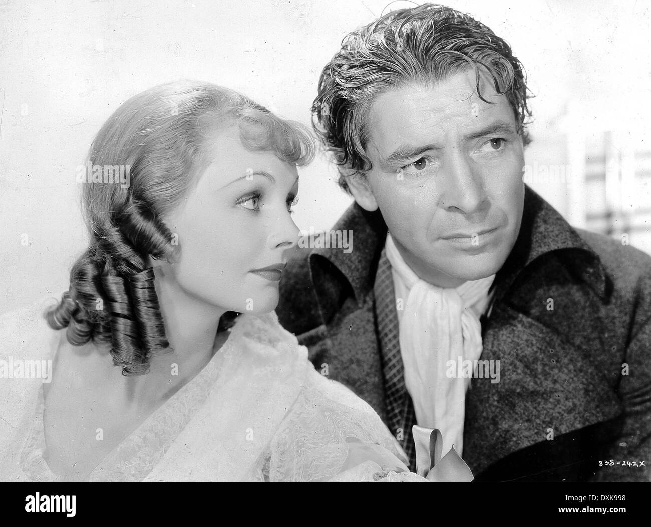 Allan as lucie manette colman had long wanted to play sydney car - A Tale Of Two Cities Us1935 Elizabeth Allan Ronald Colman Stock Image