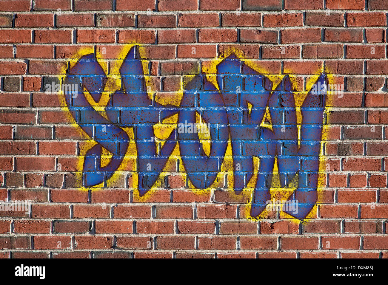 Graffiti wall text - Story Word Graffiti Style Text On A Old Grunge Brick Wall Graphics Created By