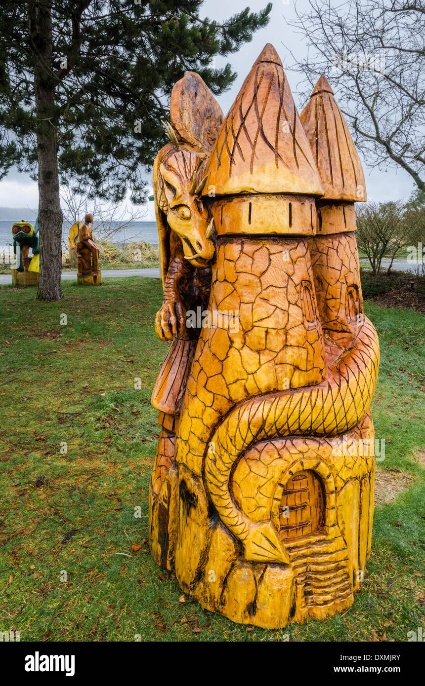 Chainsaw Carving, Frank James Park, Campbell River, British Columbia, Canada