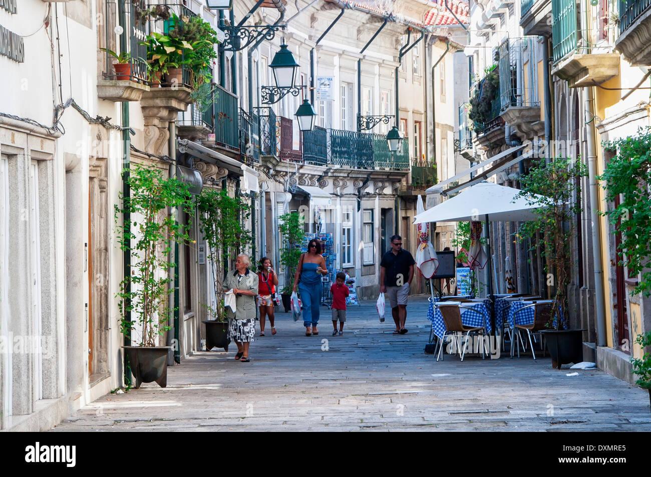 Old city street viana do castelo minho portugal stock - Viana do castelo portugal ...