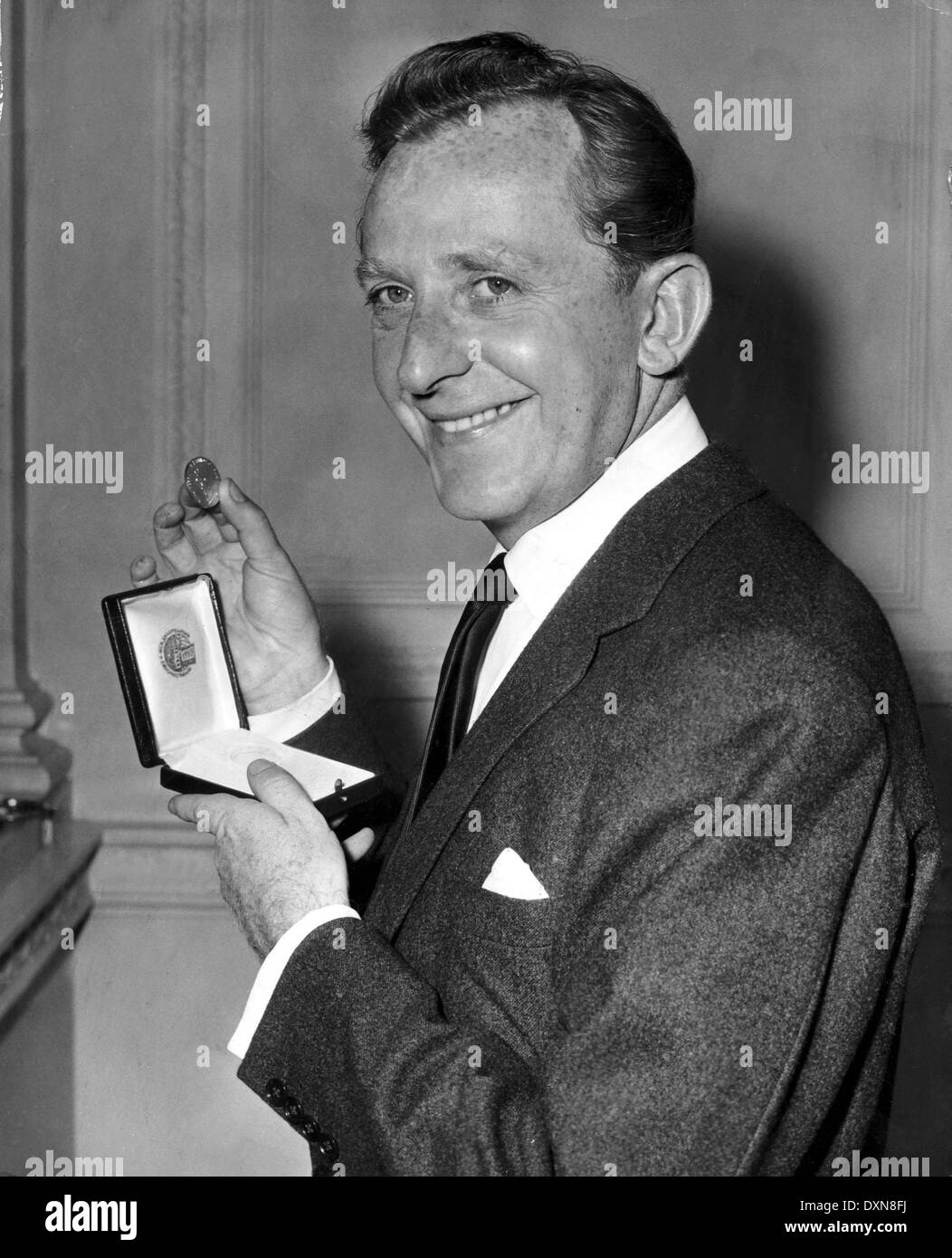 Director Lewis Gilbert With Silver Medal Awarded To Him For Stock ...
