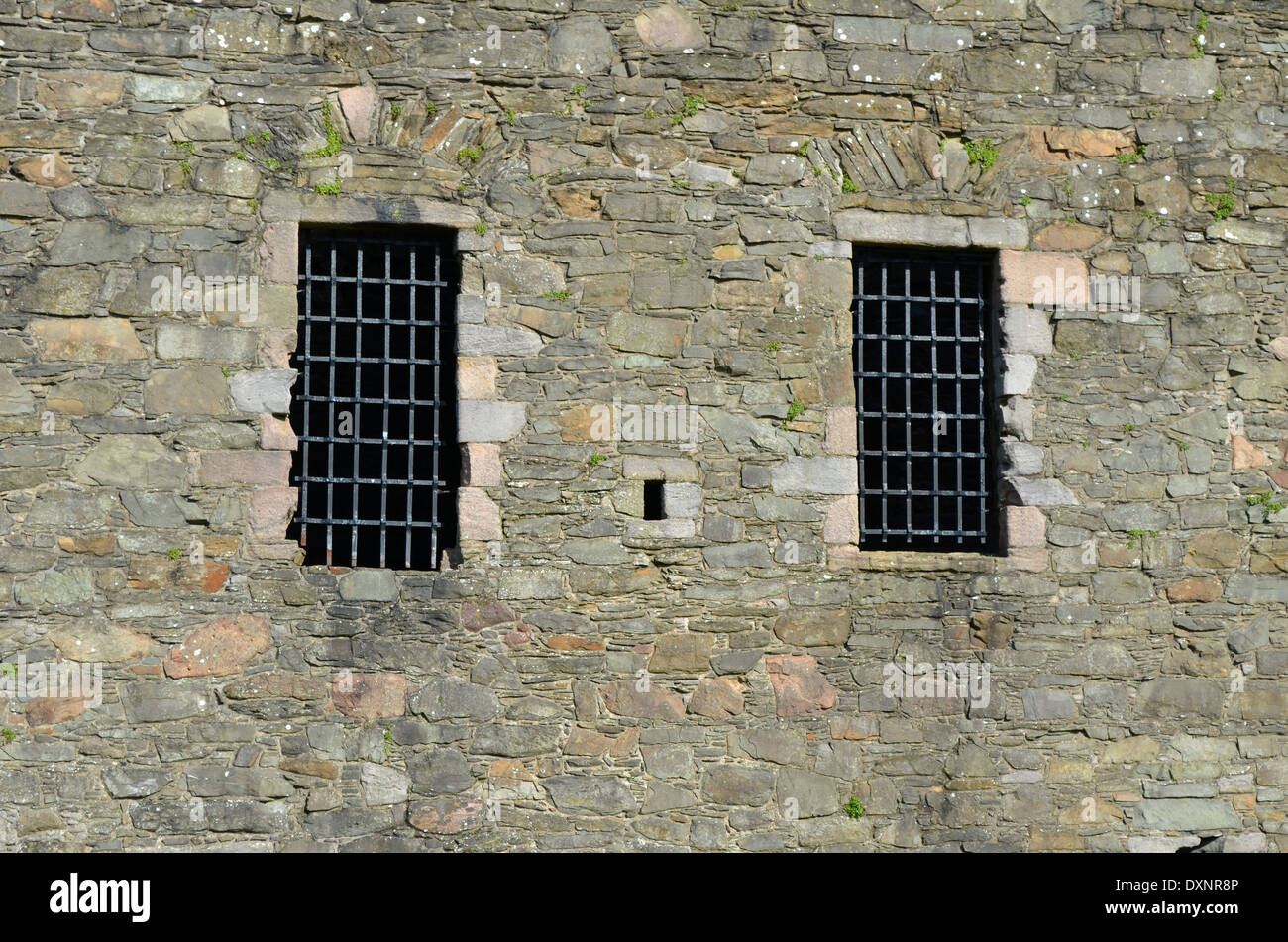 Old castle windows with steel frames Stock Photo, Royalty Free ...